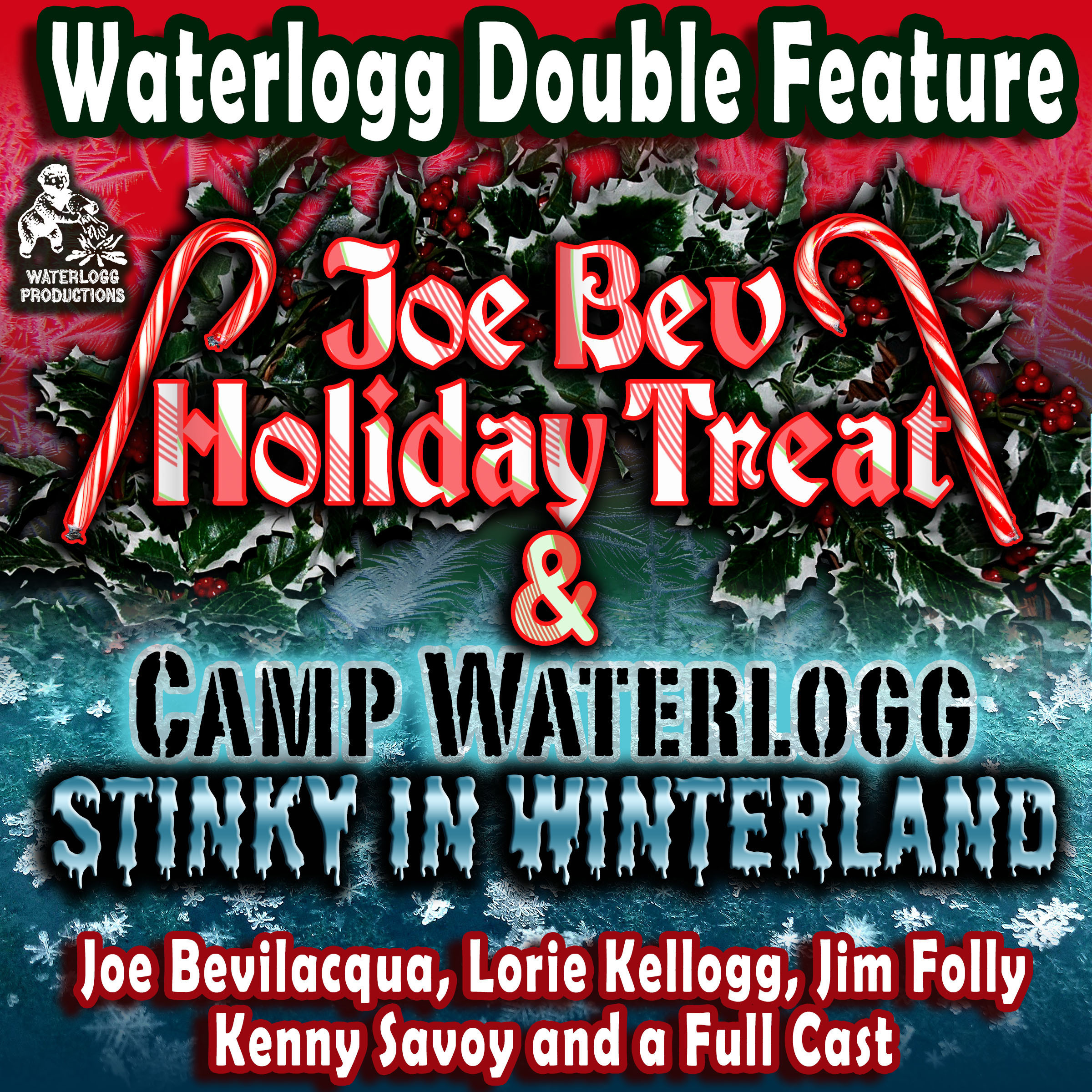 Printable A Waterlogg Double Feature: The Joe Bev Holiday Treat and the Camp Waterlogg Summer Freeze Special, Stinky in Winterland Audiobook Cover Art