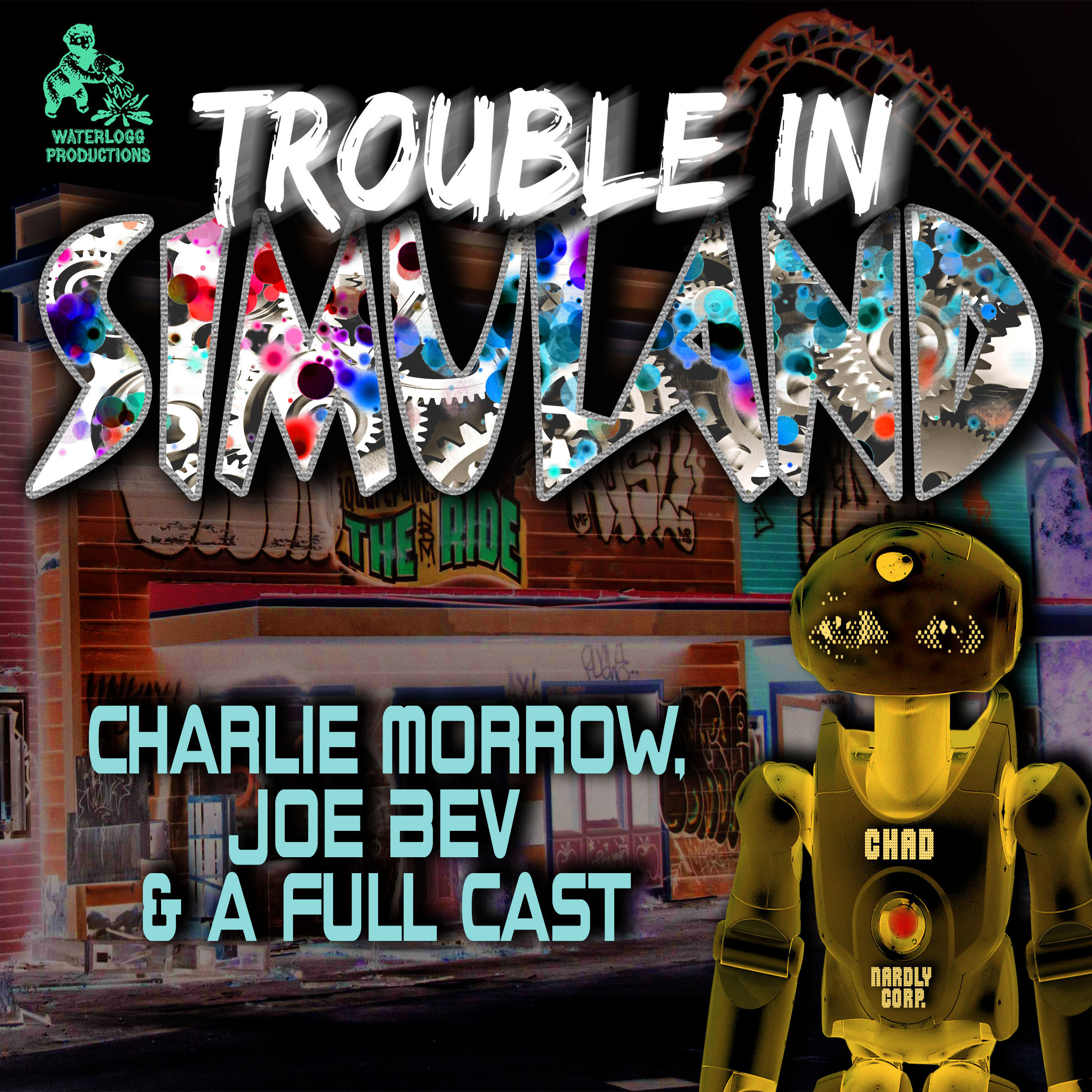 Printable Trouble in Simuland : A Joe Bev Audio Theater Audiobook Cover Art