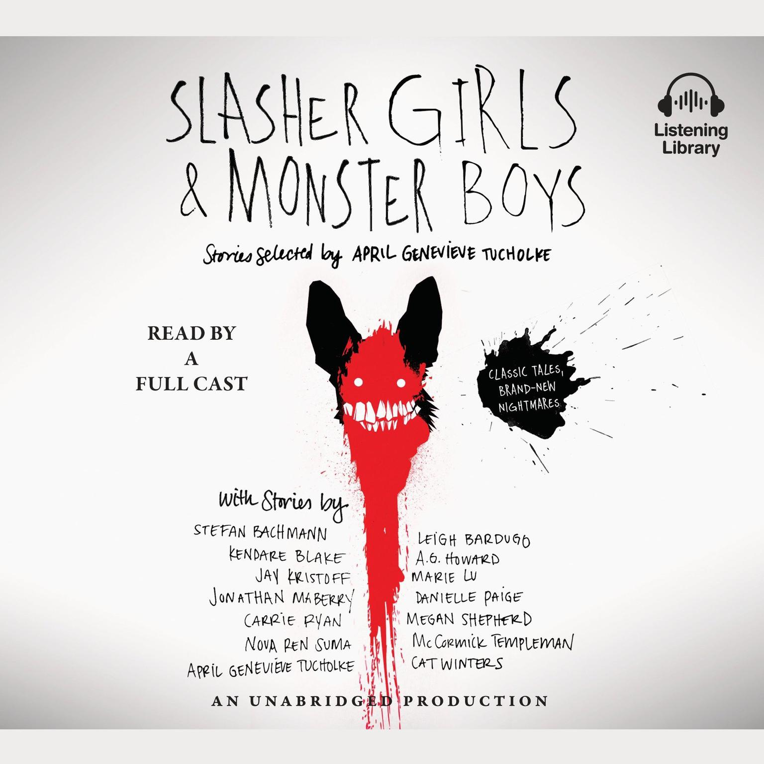 Printable Slasher Girls and Monster Boys Audiobook Cover Art