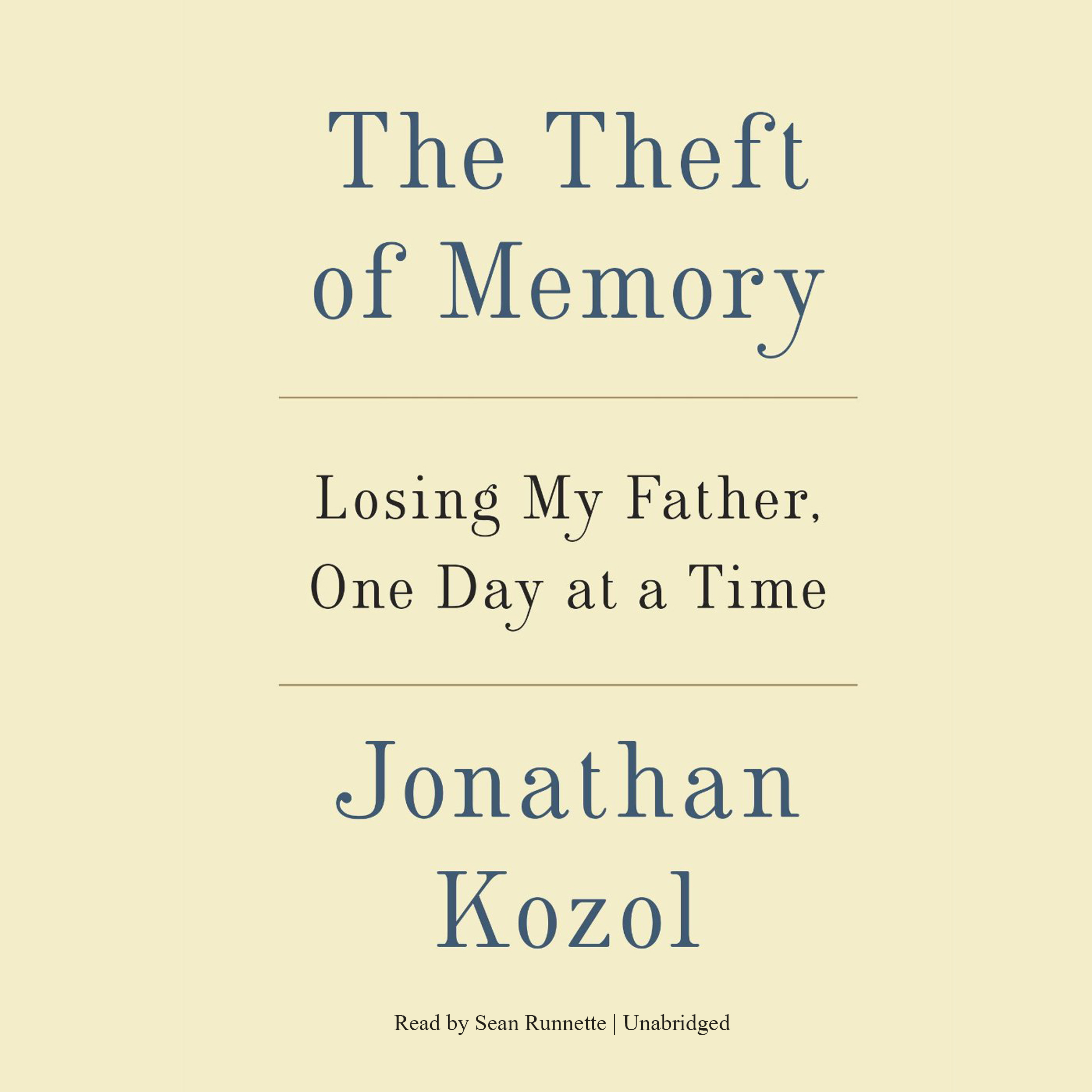 Printable The Theft of Memory: Losing My Father, One Day at a Time Audiobook Cover Art