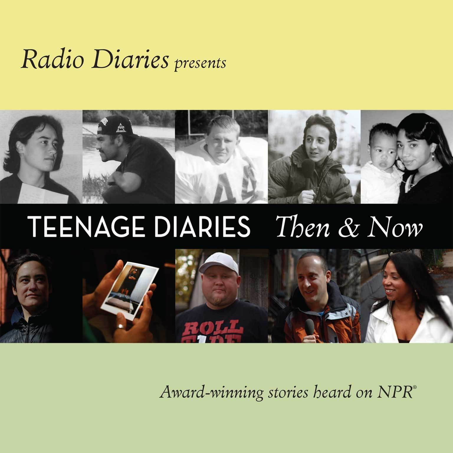 Printable Teenage Diaries: Then and Now Audiobook Cover Art