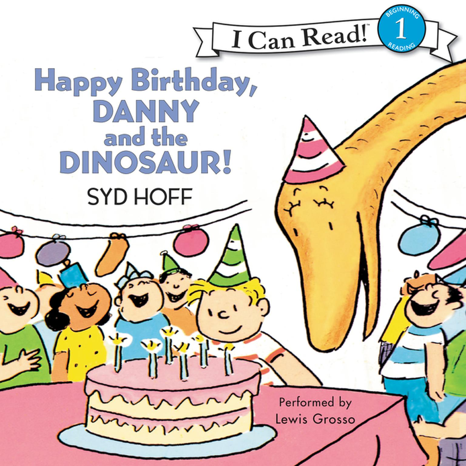 Printable Happy Birthday, Danny and the Dinosaur! Audiobook Cover Art