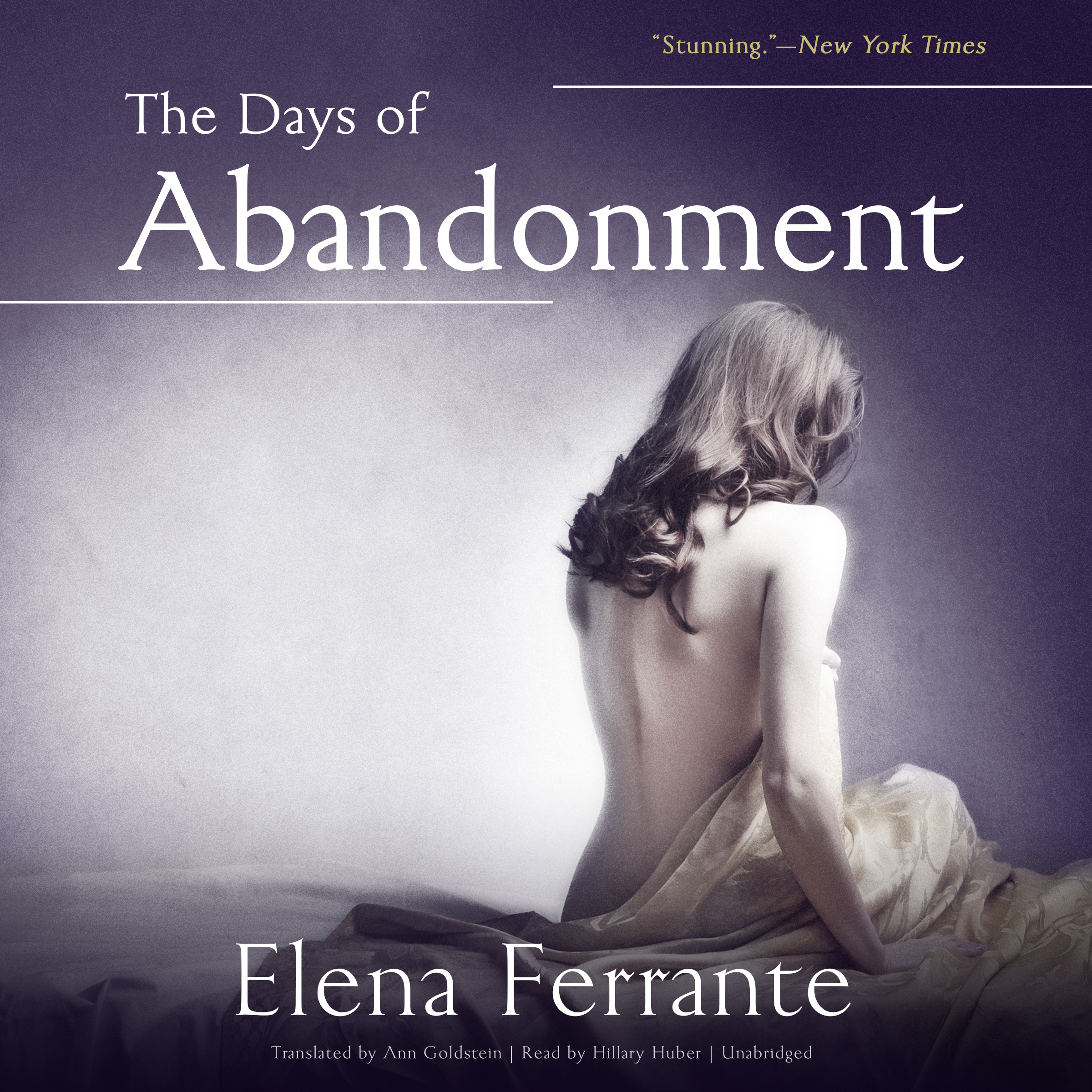 Printable The Days of Abandonment Audiobook Cover Art