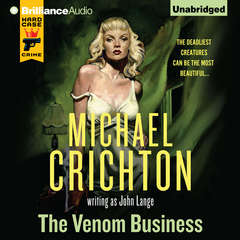 The Venom Business Audiobook, by Michael Crichton, John Lange