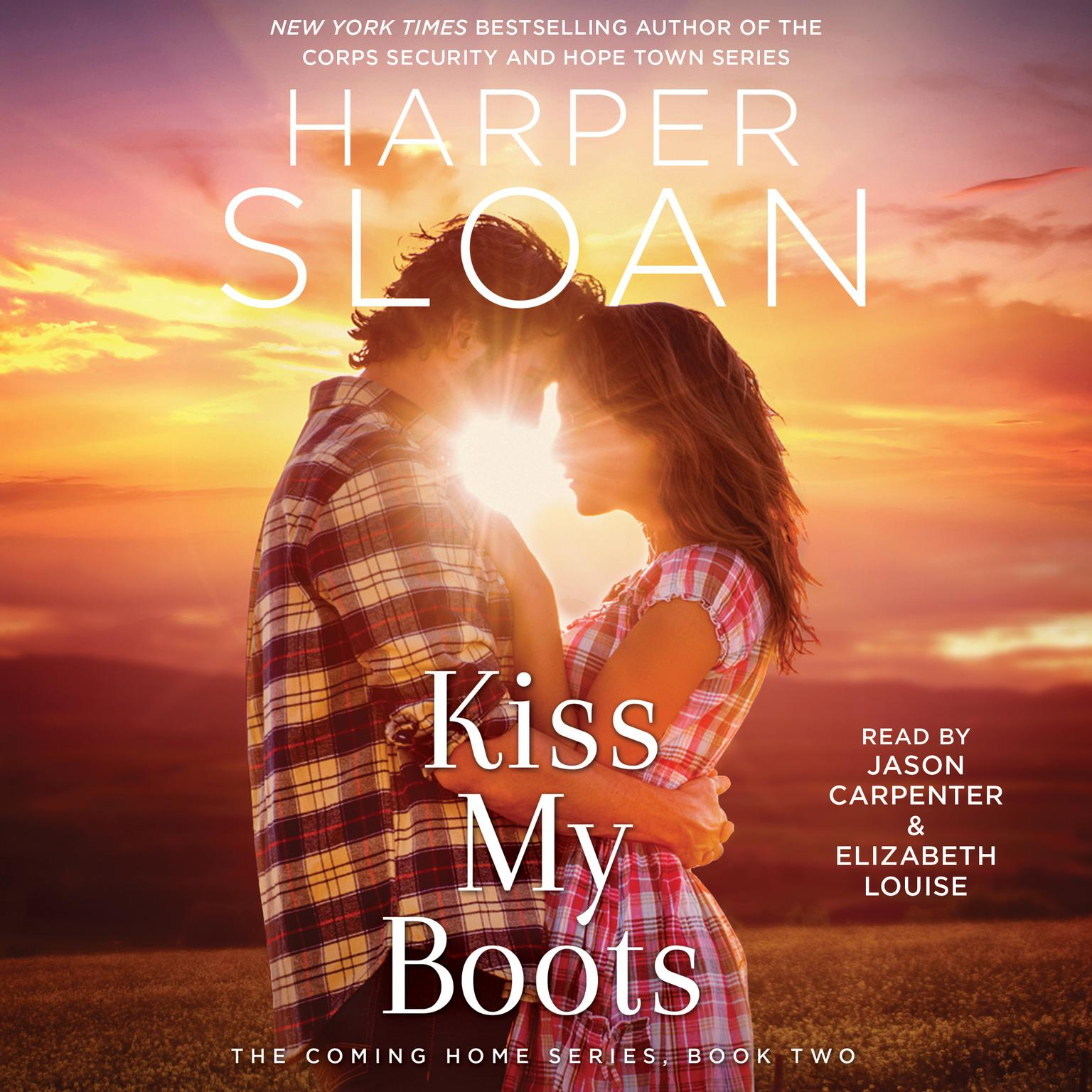 Printable Kiss My Boots Audiobook Cover Art