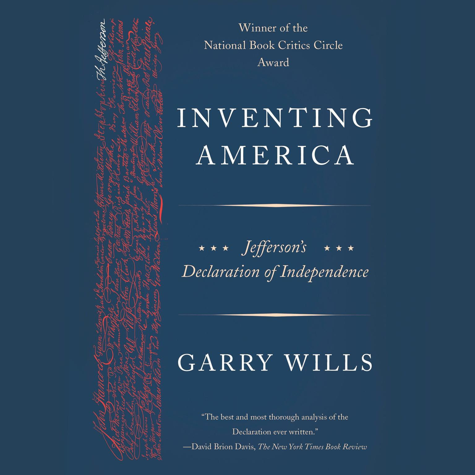 Printable Inventing America: Jefferson's Declaration of Independence Audiobook Cover Art