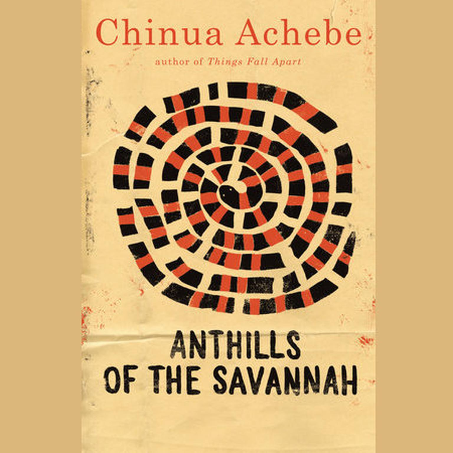 Printable Anthills of the Savannah Audiobook Cover Art