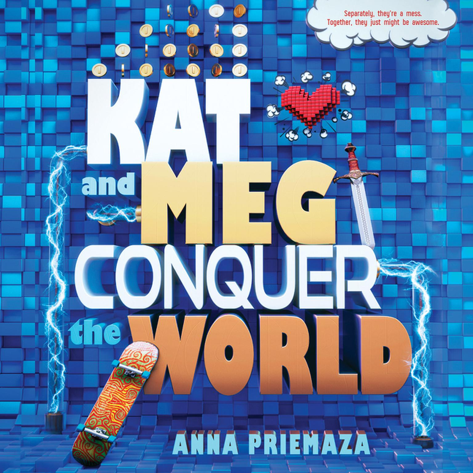 Printable Kat and Meg Conquer the World Audiobook Cover Art