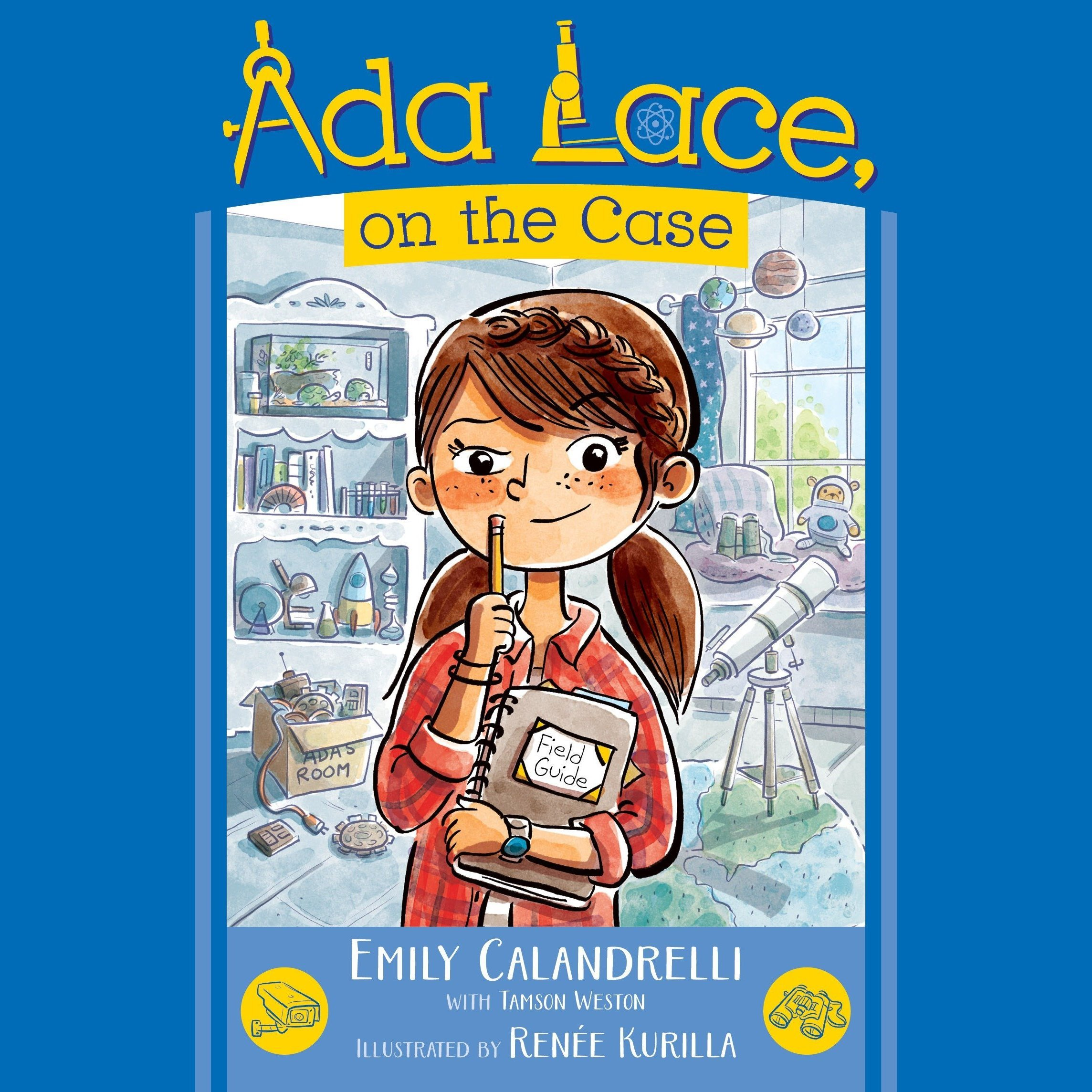 Printable Ada Lace, On the Case Audiobook Cover Art