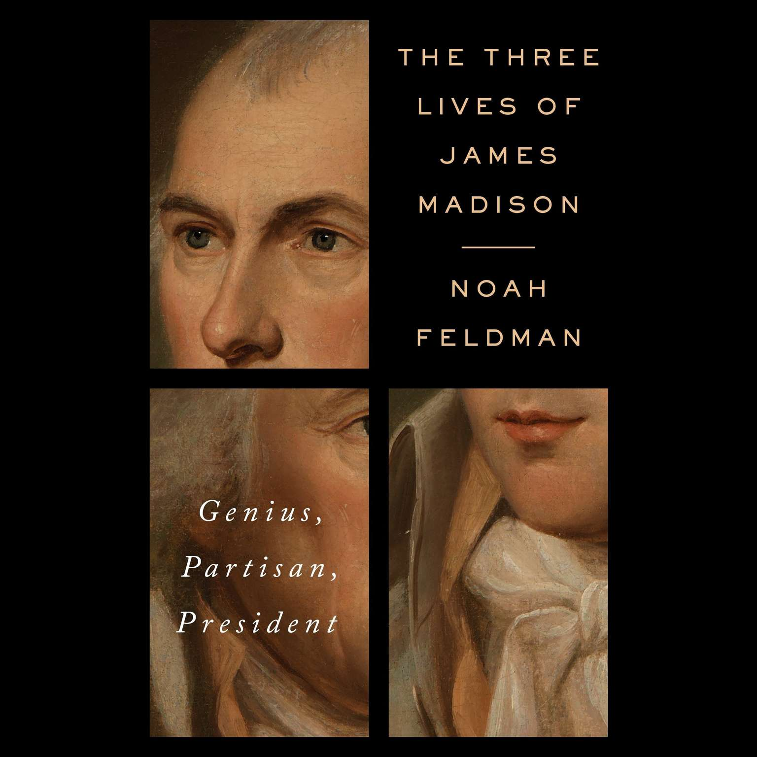 Printable The Three Lives of James Madison: Genius, Partisan, President Audiobook Cover Art