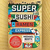 Printable Super Sushi Ramen Express: One Family's Journey Through the Belly of Japan Audiobook Cover Art