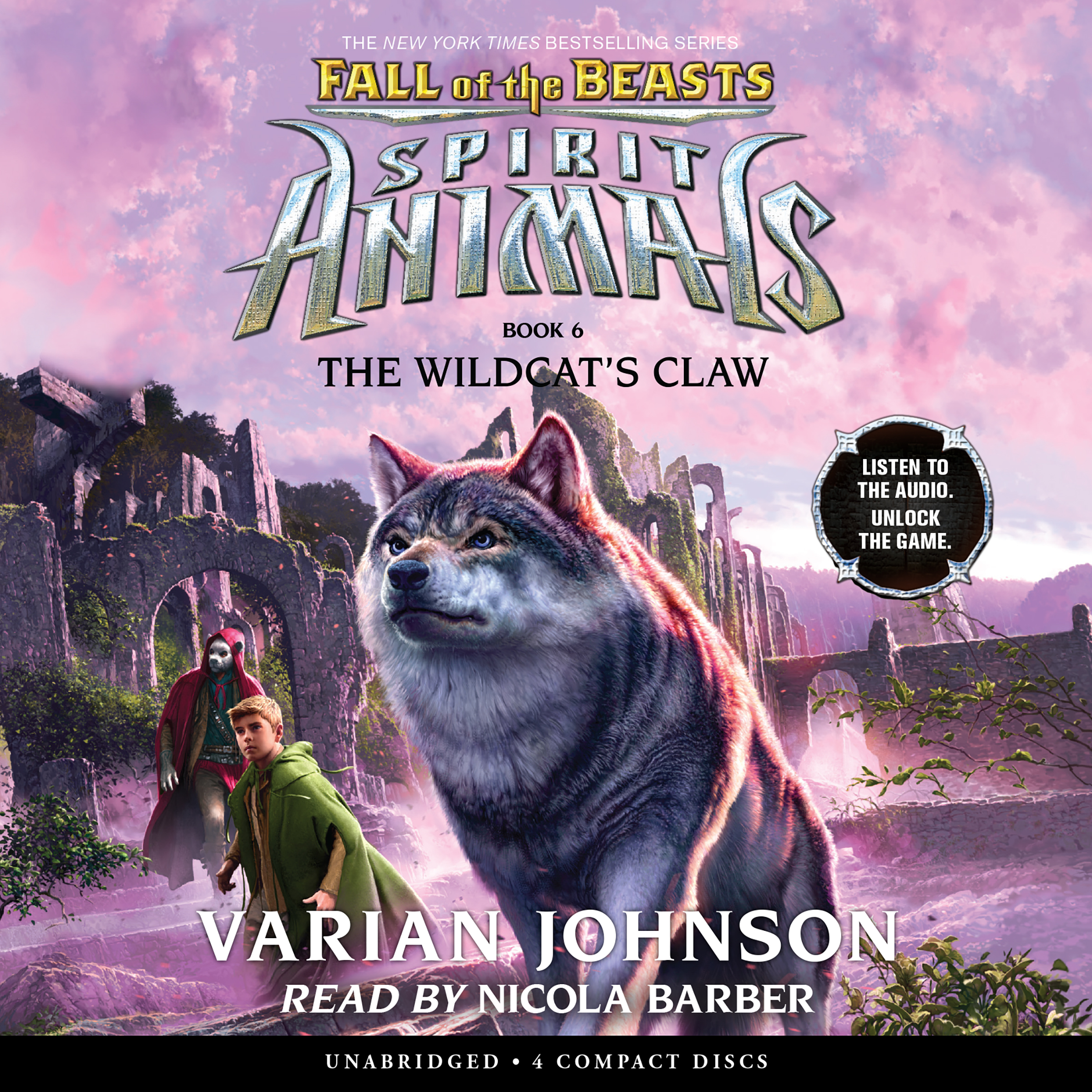 Printable The Wildcat's Claw: Spirit Animals Audiobook Cover Art