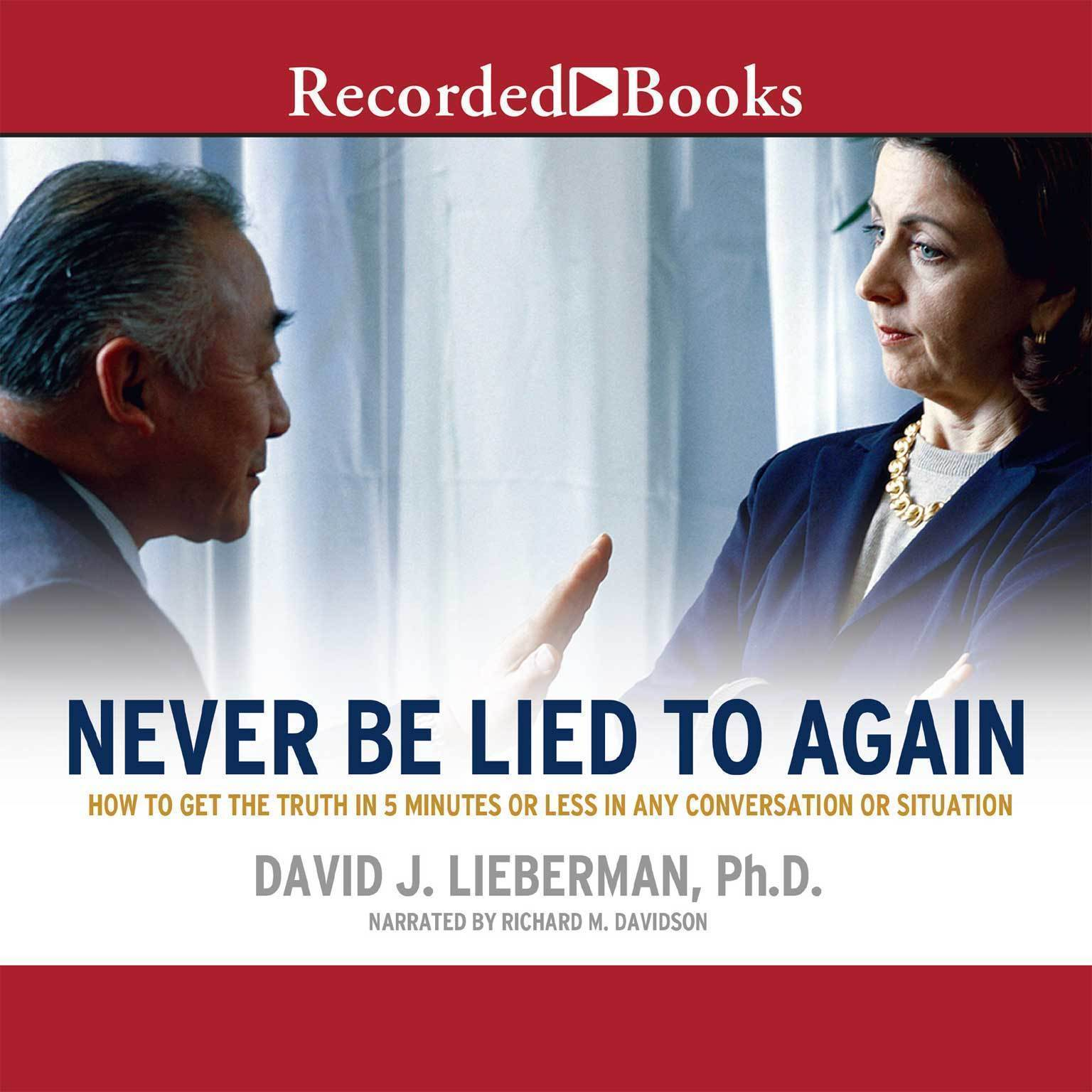 Printable Never Be Lied to Again Audiobook Cover Art