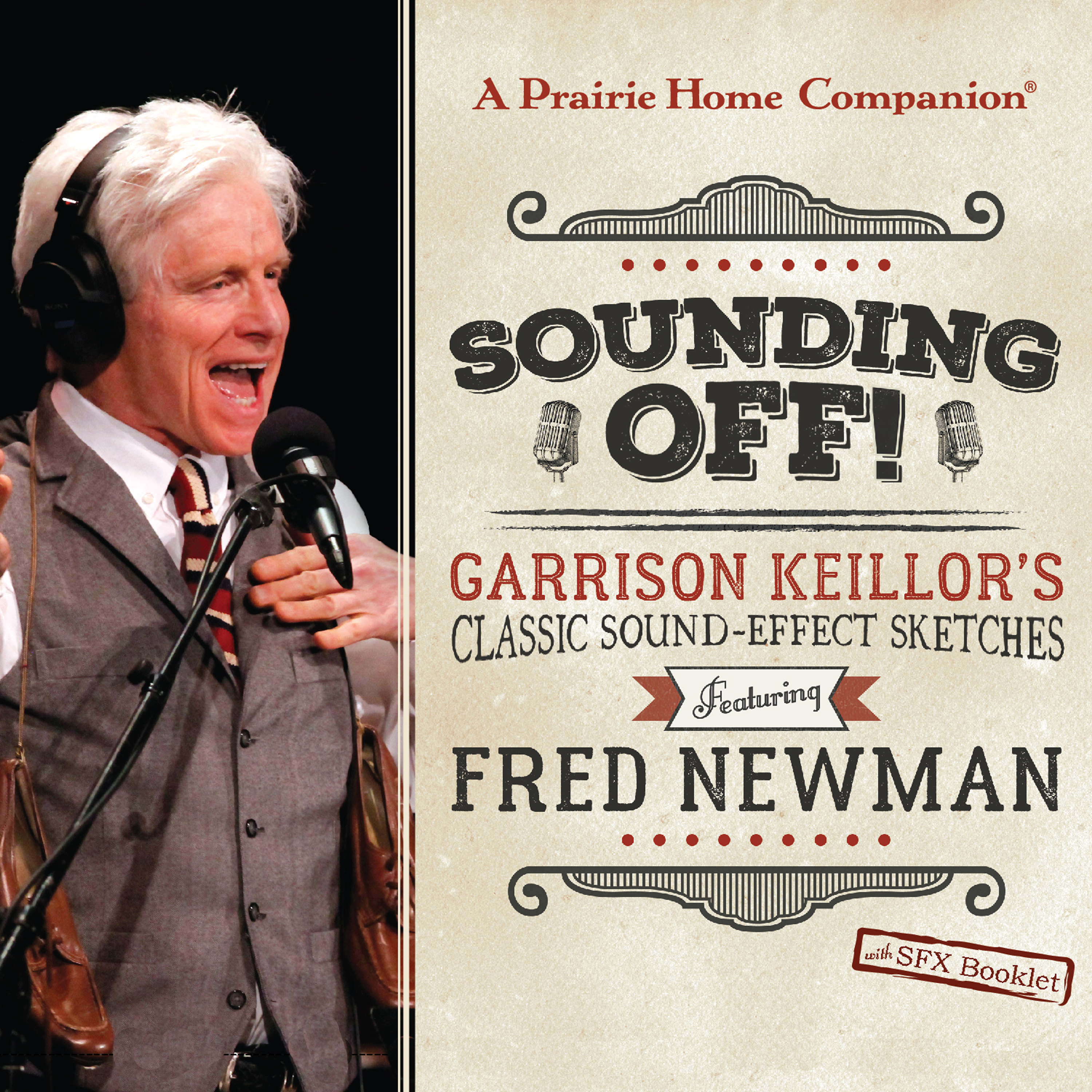 Printable Sounding Off! Garrison Keillor's Classic Sound Effect Sketches featuring Fred Newman: Garrison Keillor's Classic Sound Effect Sketches Featuring Fred Newman Audiobook Cover Art