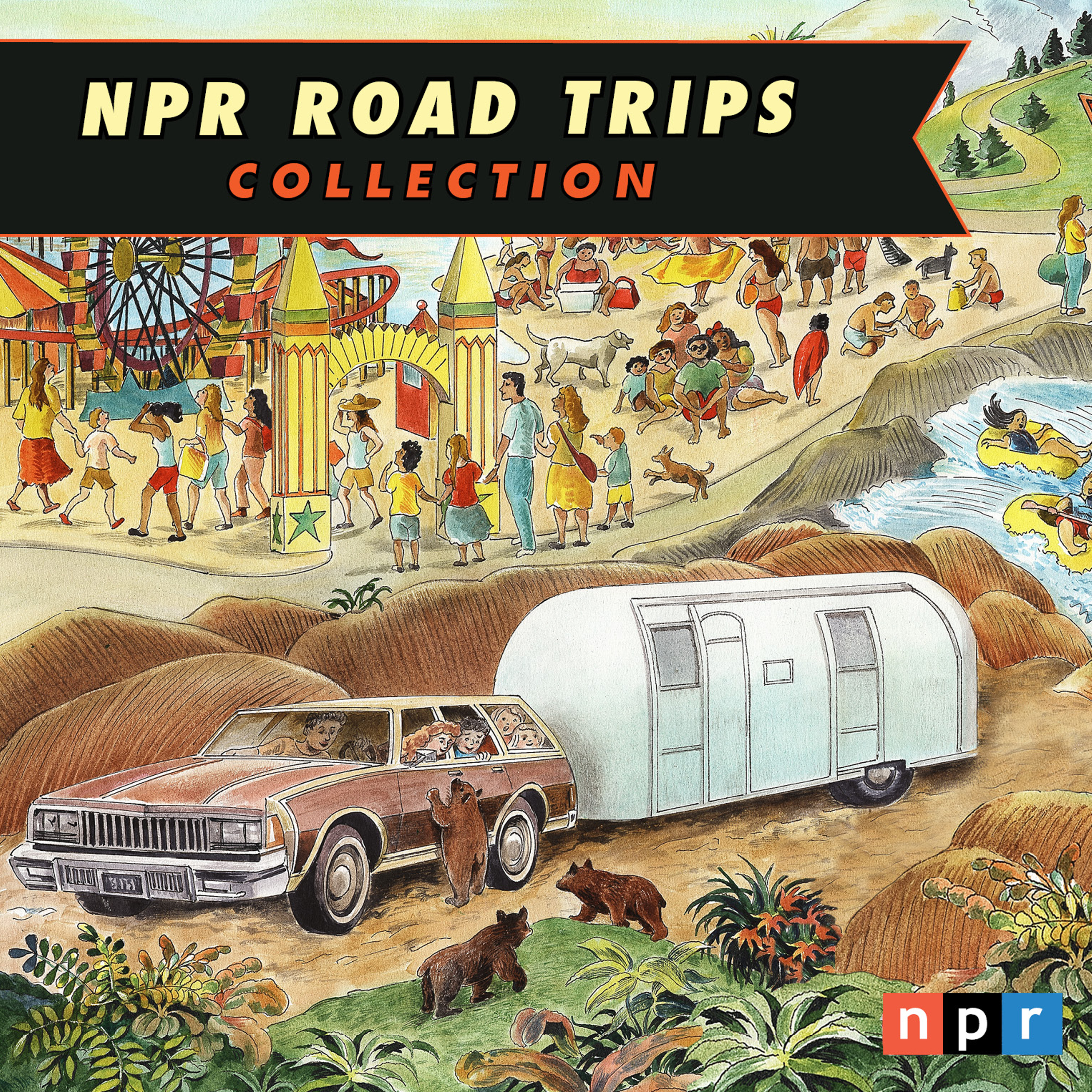 Printable NPR Road Trips Collection: On the Road Again Audiobook Cover Art