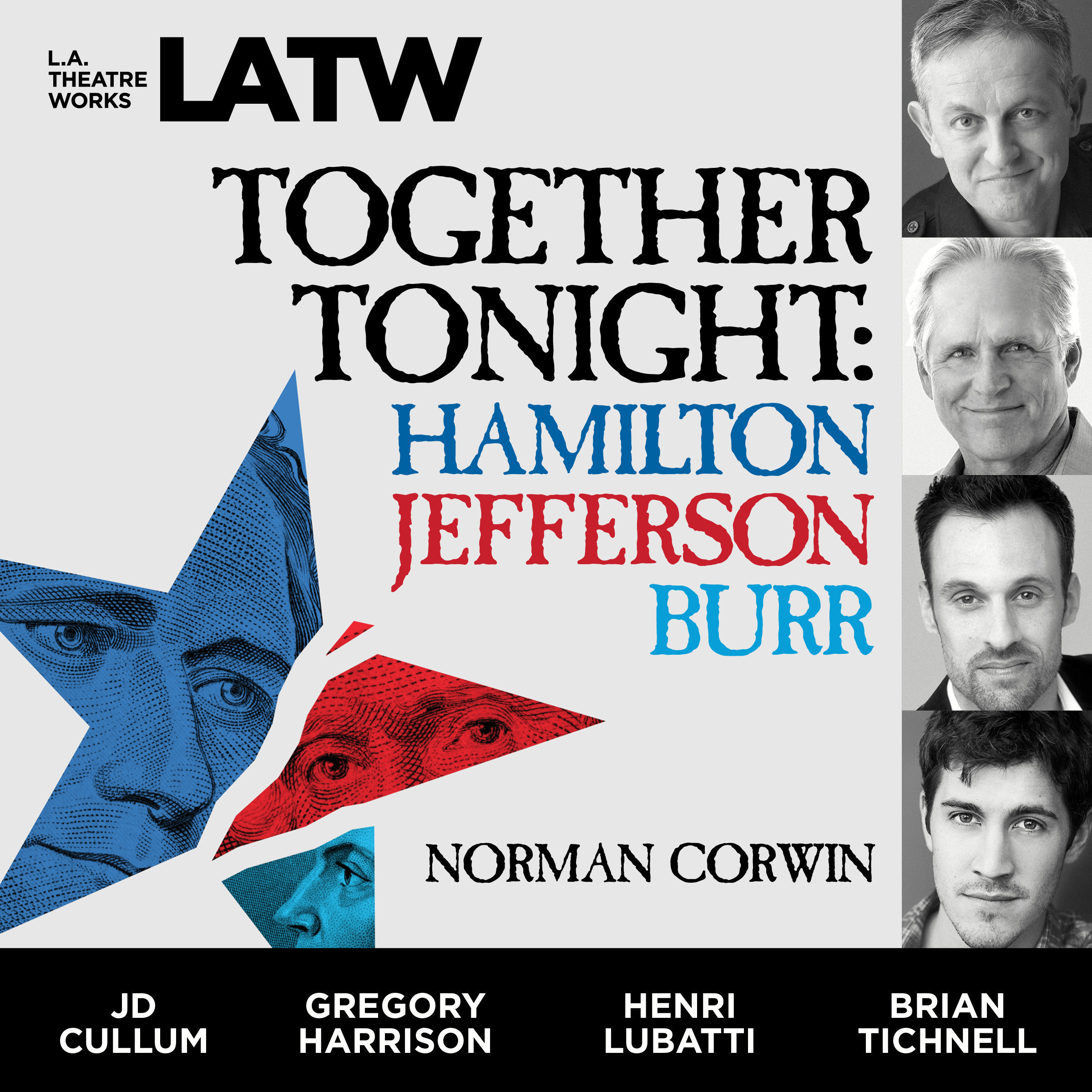 Printable Together Tonight: Hamilton, Jefferson, Burr Audiobook Cover Art