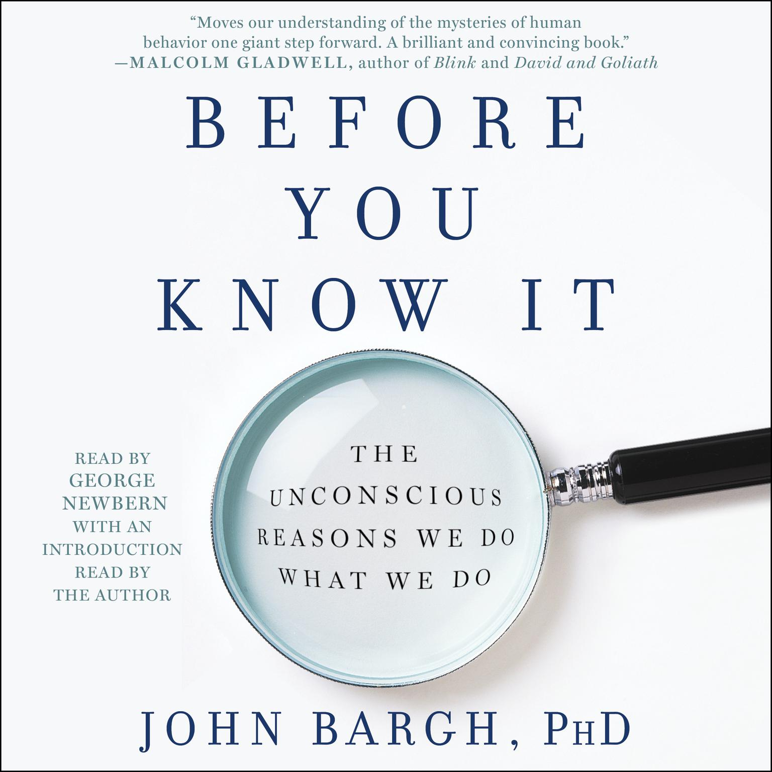 Printable Before You Know It: The Unconscious Reasons We Do What We Do Audiobook Cover Art
