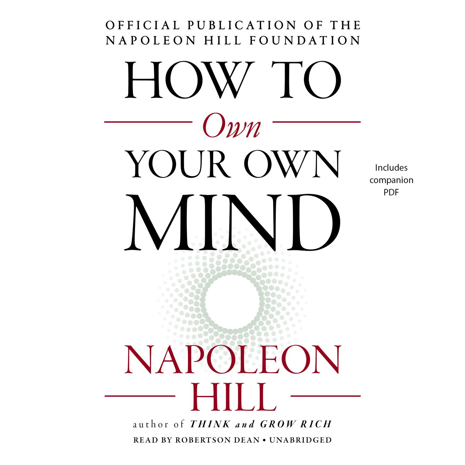 Printable How to Own Your Own Mind Audiobook Cover Art