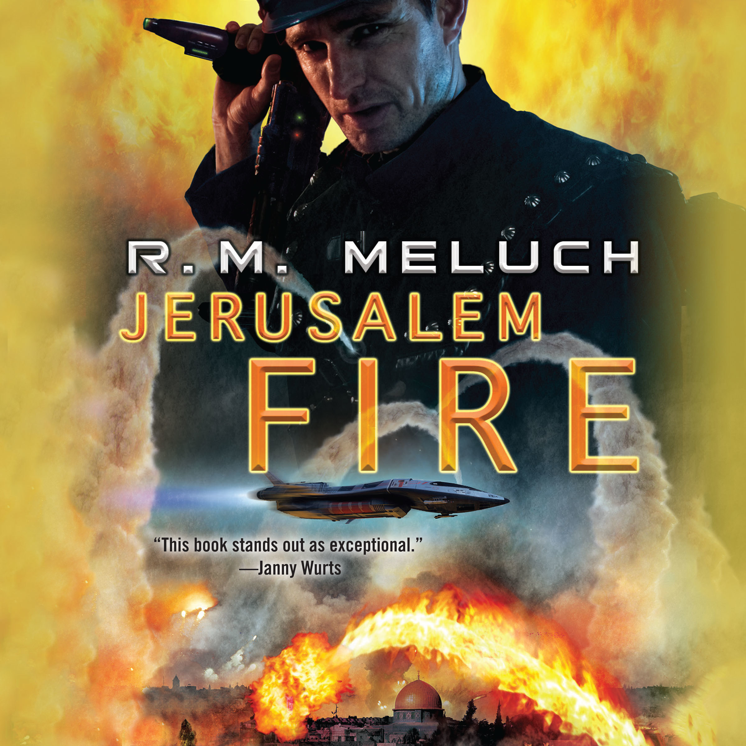 Printable Jerusalem Fire Audiobook Cover Art