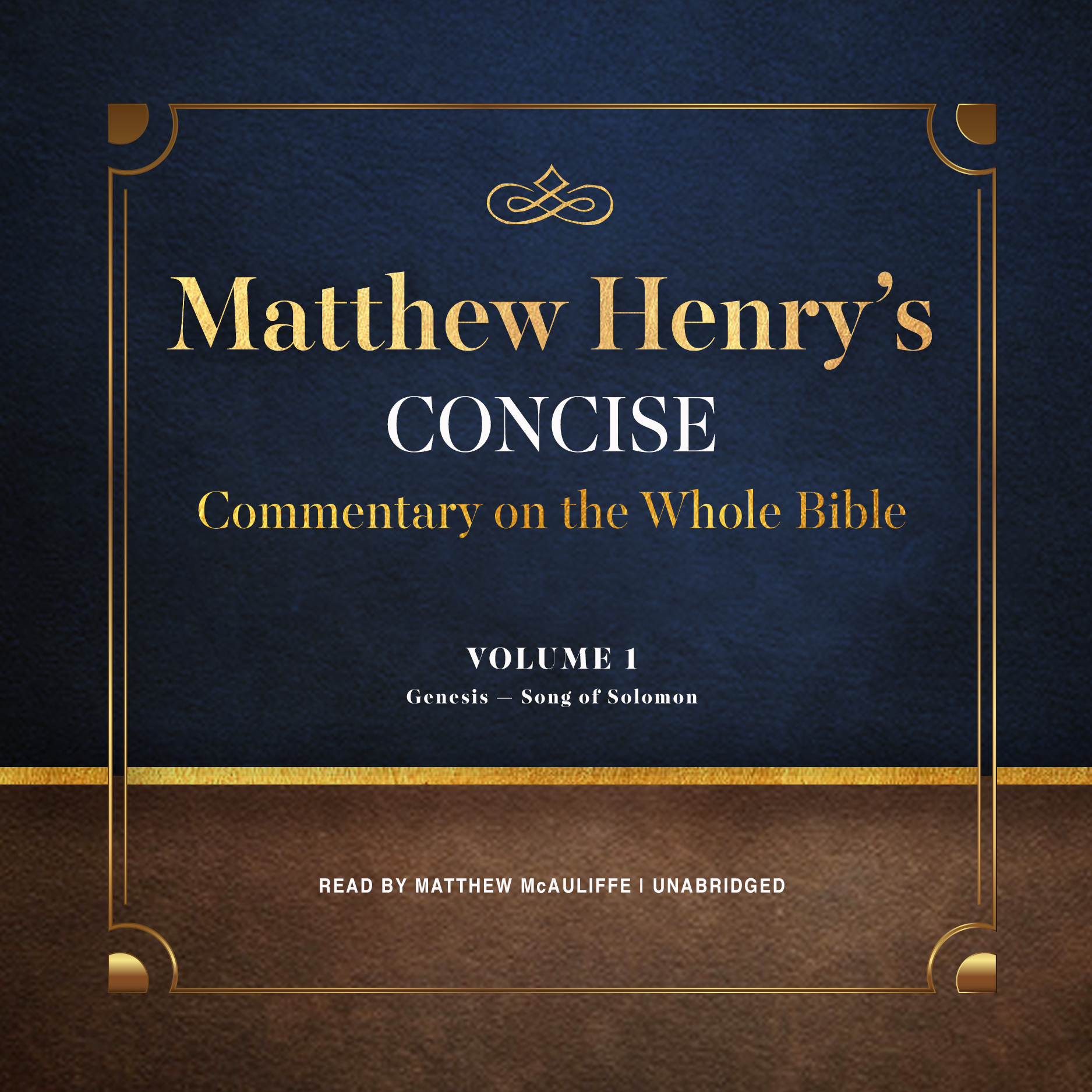 Printable Matthew Henry's Concise Commentary on the Whole Bible, Vol. 1: Genesis–Isaiah Audiobook Cover Art