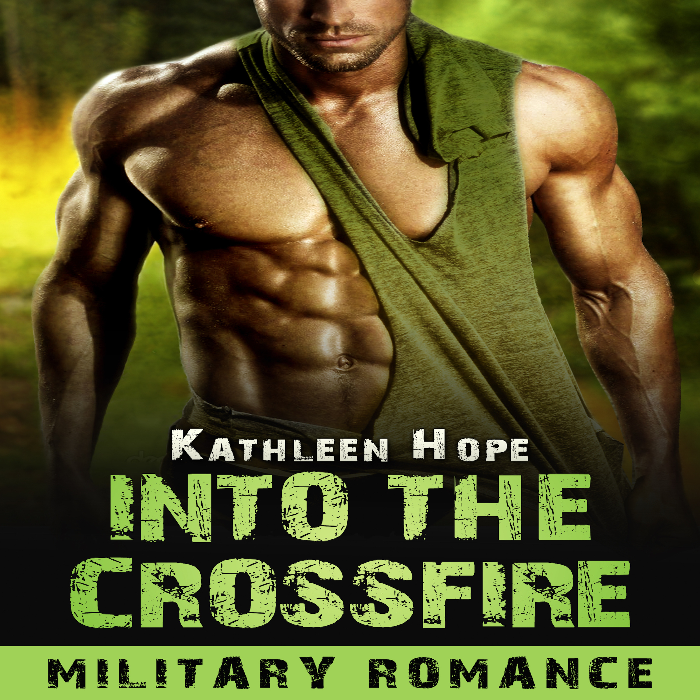 Printable Military Romance: Into the Crossfire Audiobook Cover Art
