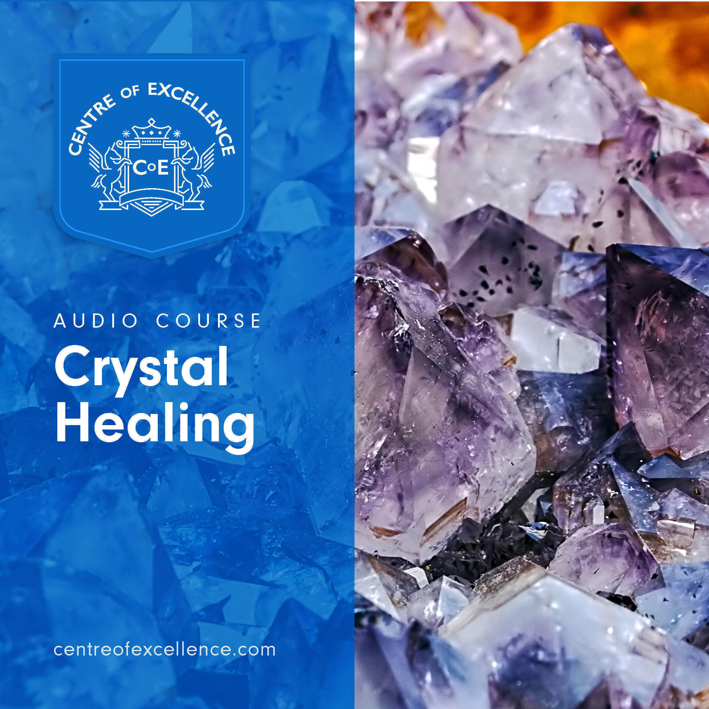 Printable Crystal Healing Audiobook Cover Art
