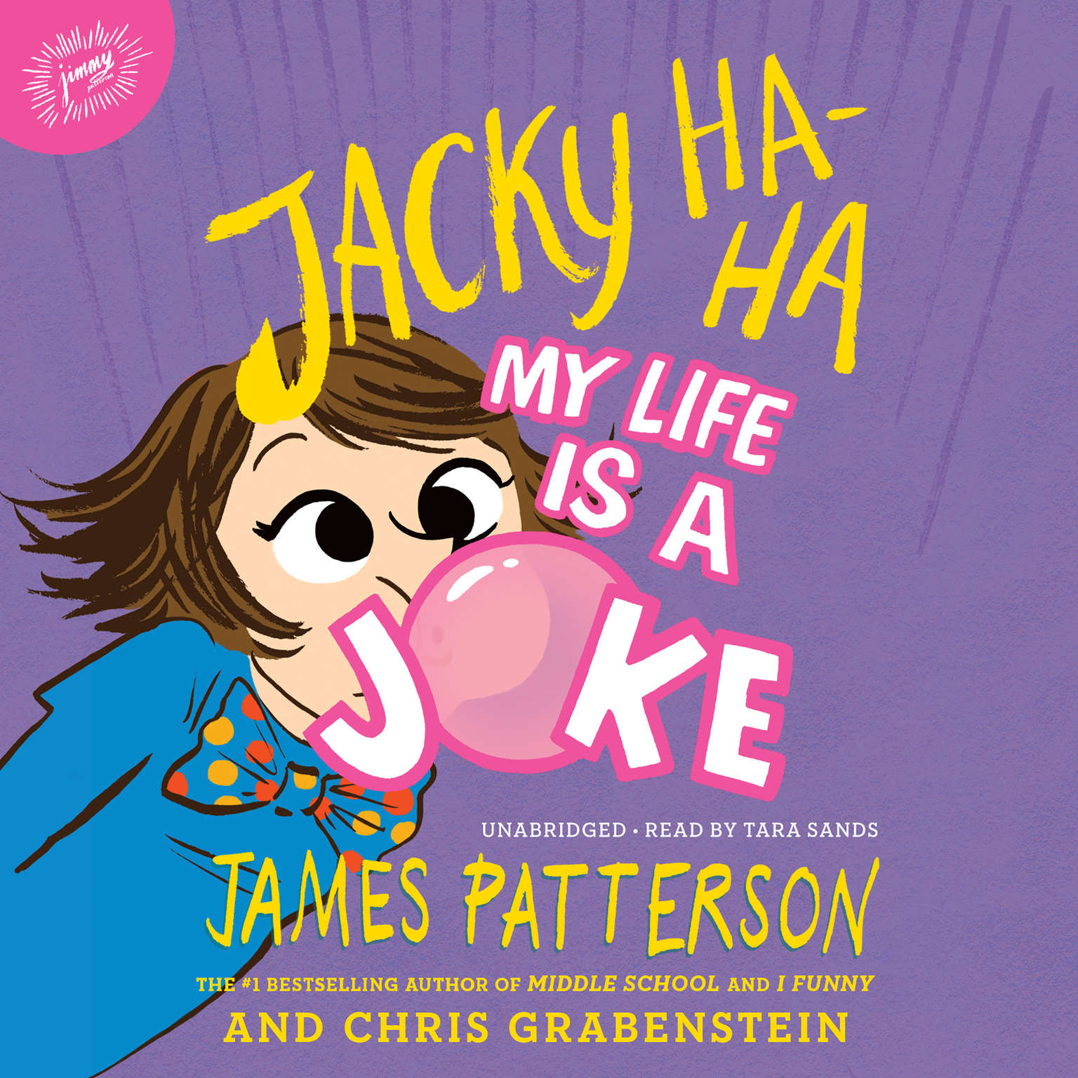 Printable Jacky Ha-Ha: My Life Is a Joke Audiobook Cover Art