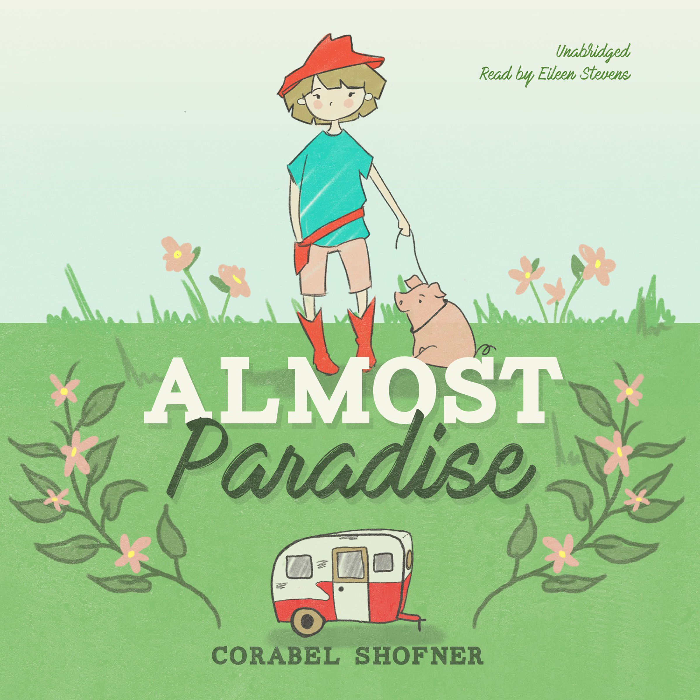 Printable Almost Paradise Audiobook Cover Art