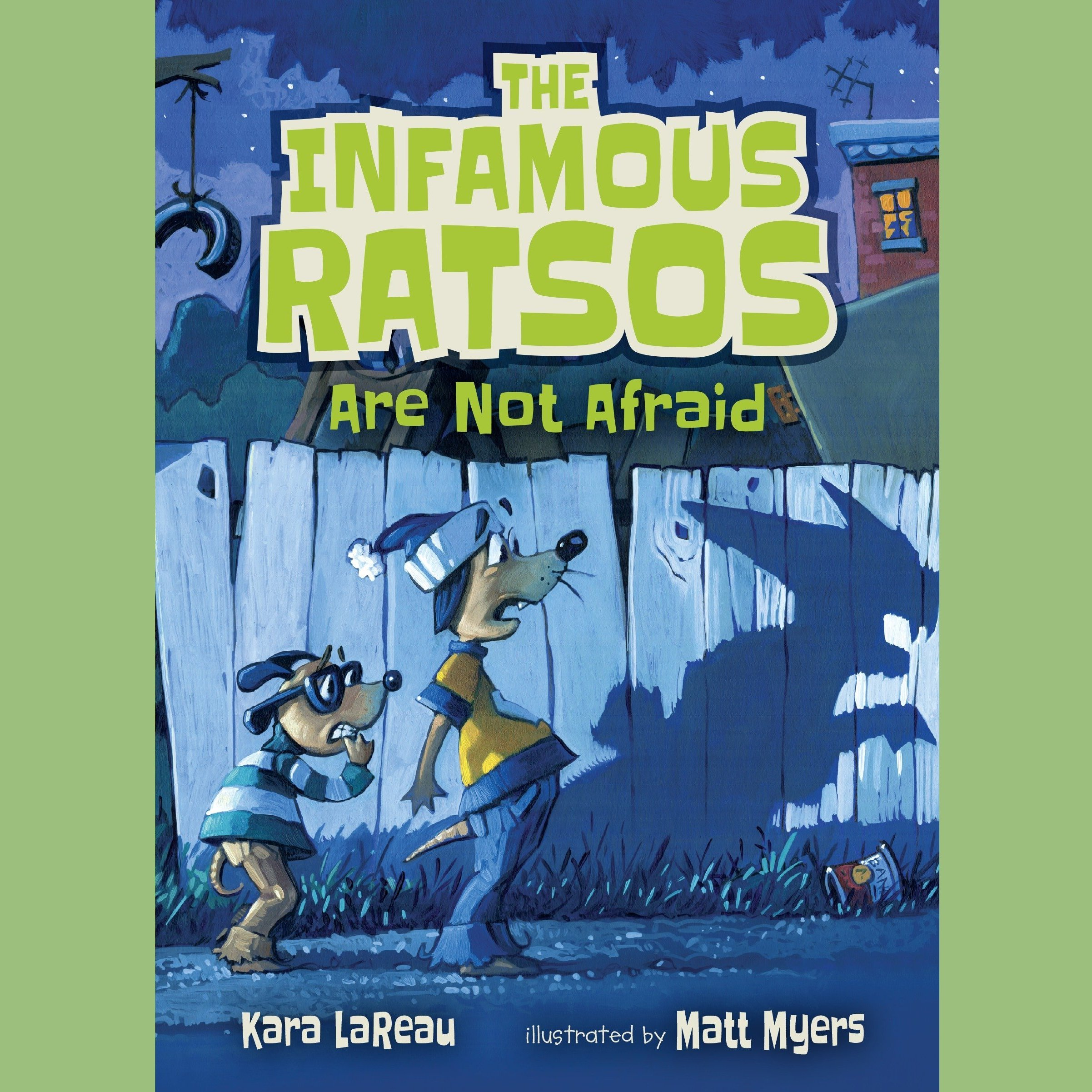 Printable The Infamous Ratsos Are Not Afraid Audiobook Cover Art
