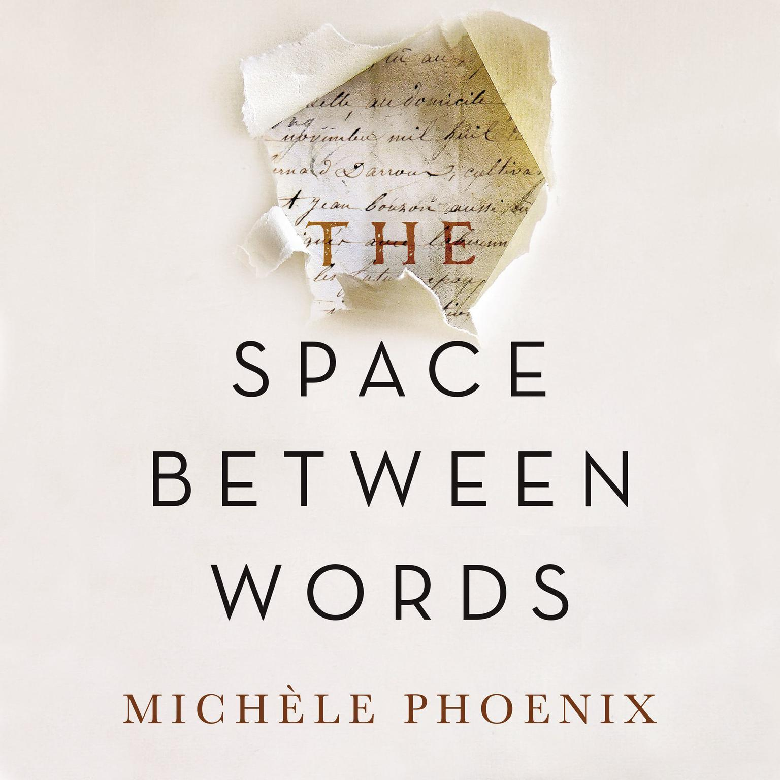 Printable The Space Between Words Audiobook Cover Art