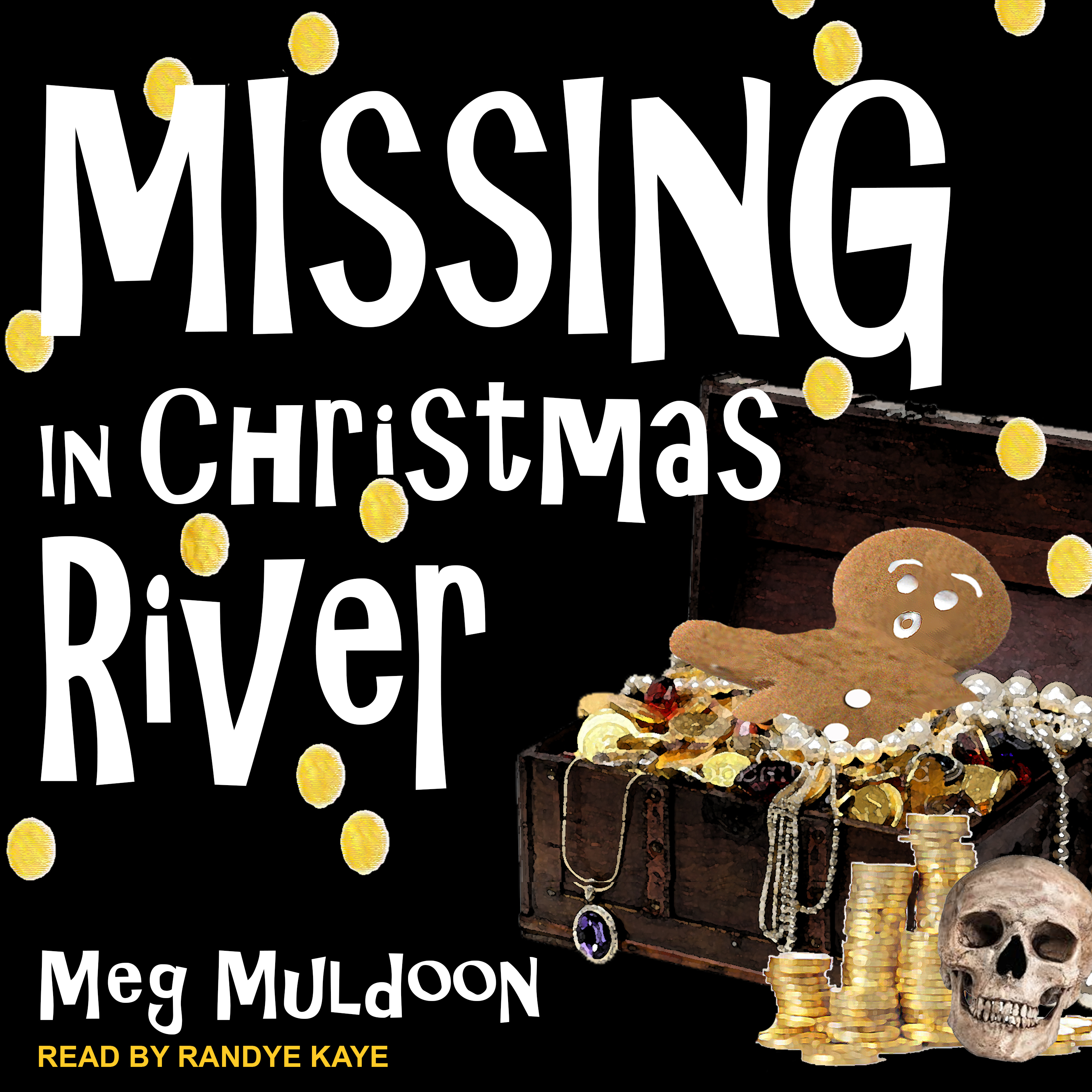 Printable Missing in Christmas River: A Christmas Cozy Mystery Audiobook Cover Art