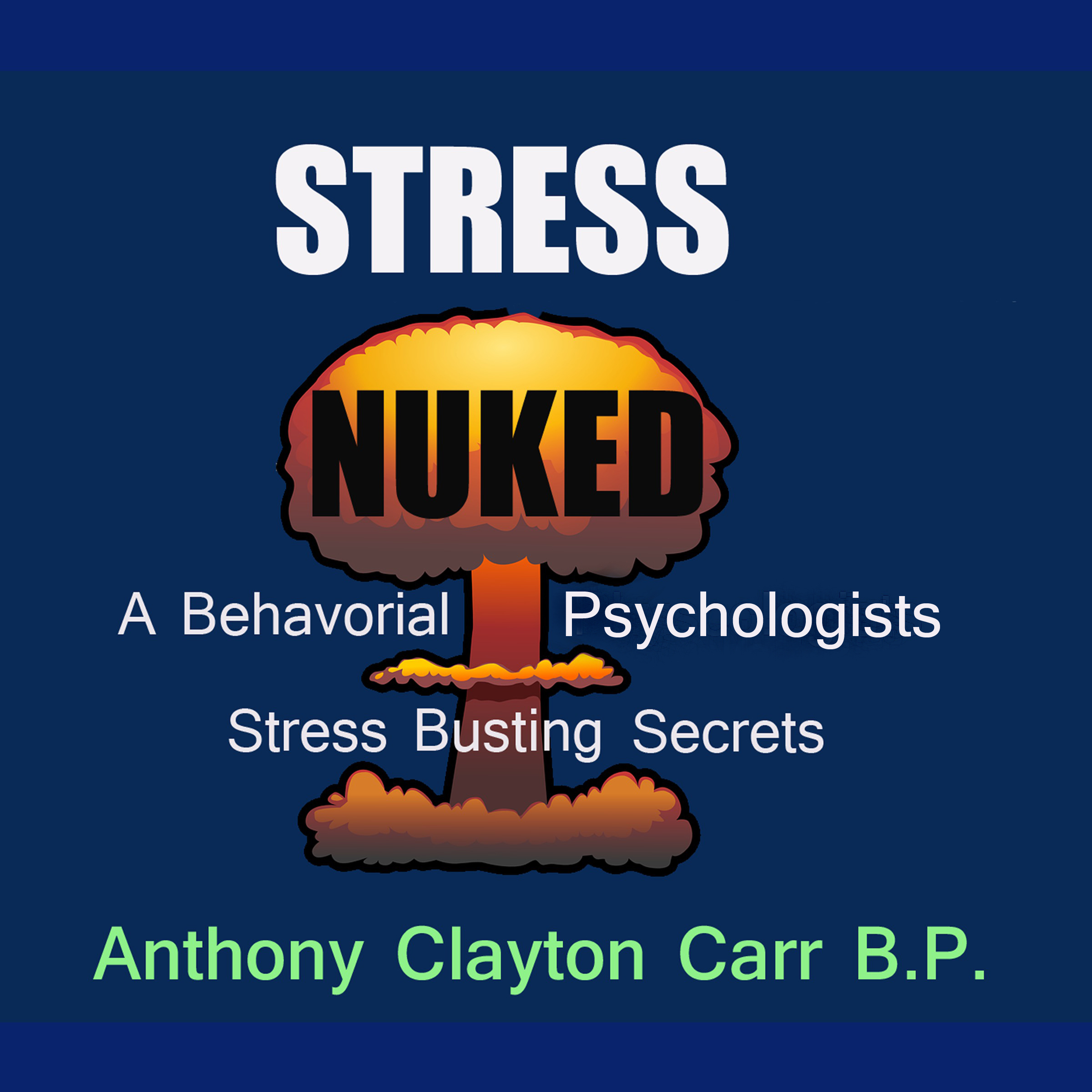 Printable Stress Nuked - A Behavorial Psycholgists Stress Busting Secrets Audiobook Cover Art