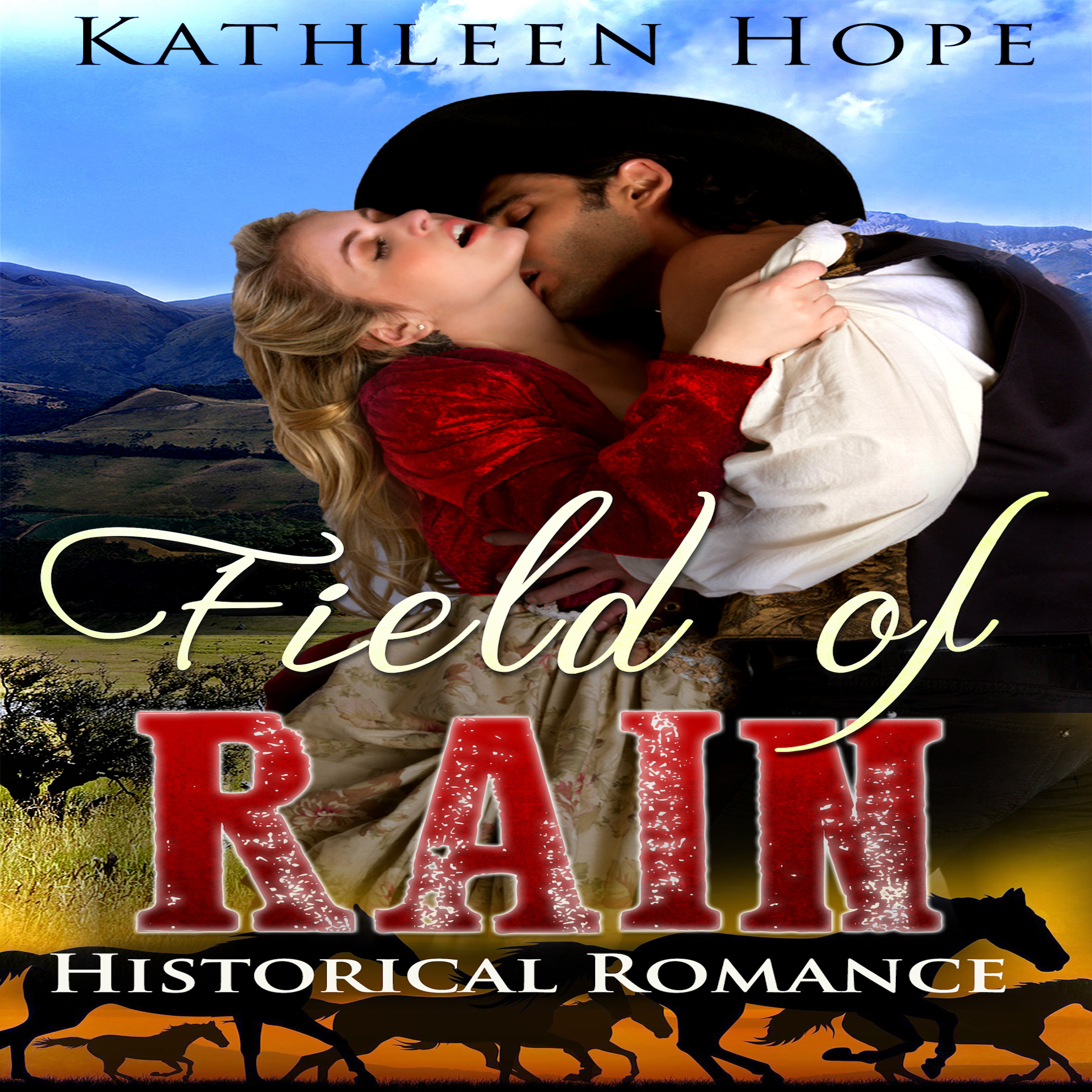 Printable Field of Rain: Historical Romance Audiobook Cover Art
