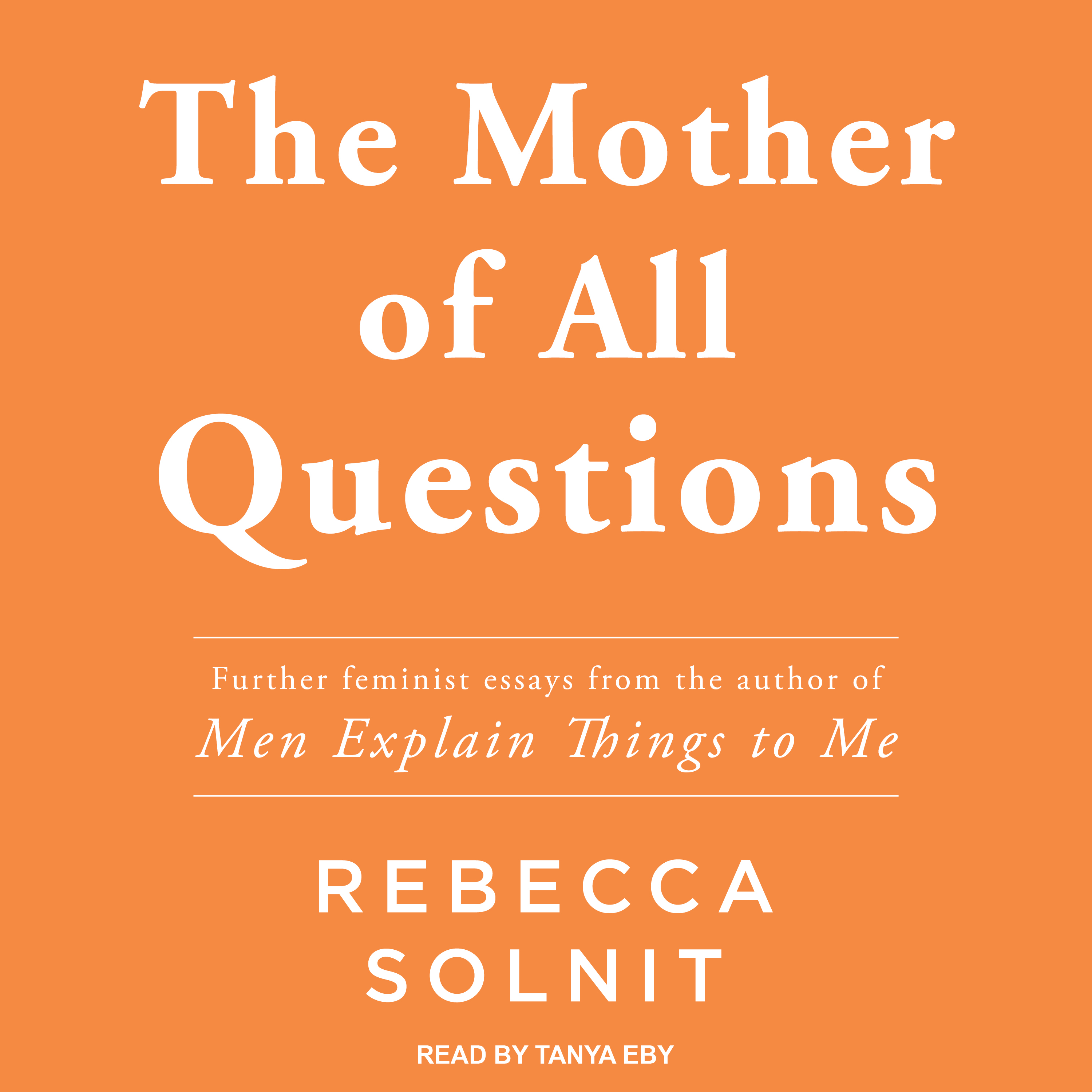 Printable The Mother of All Questions Audiobook Cover Art