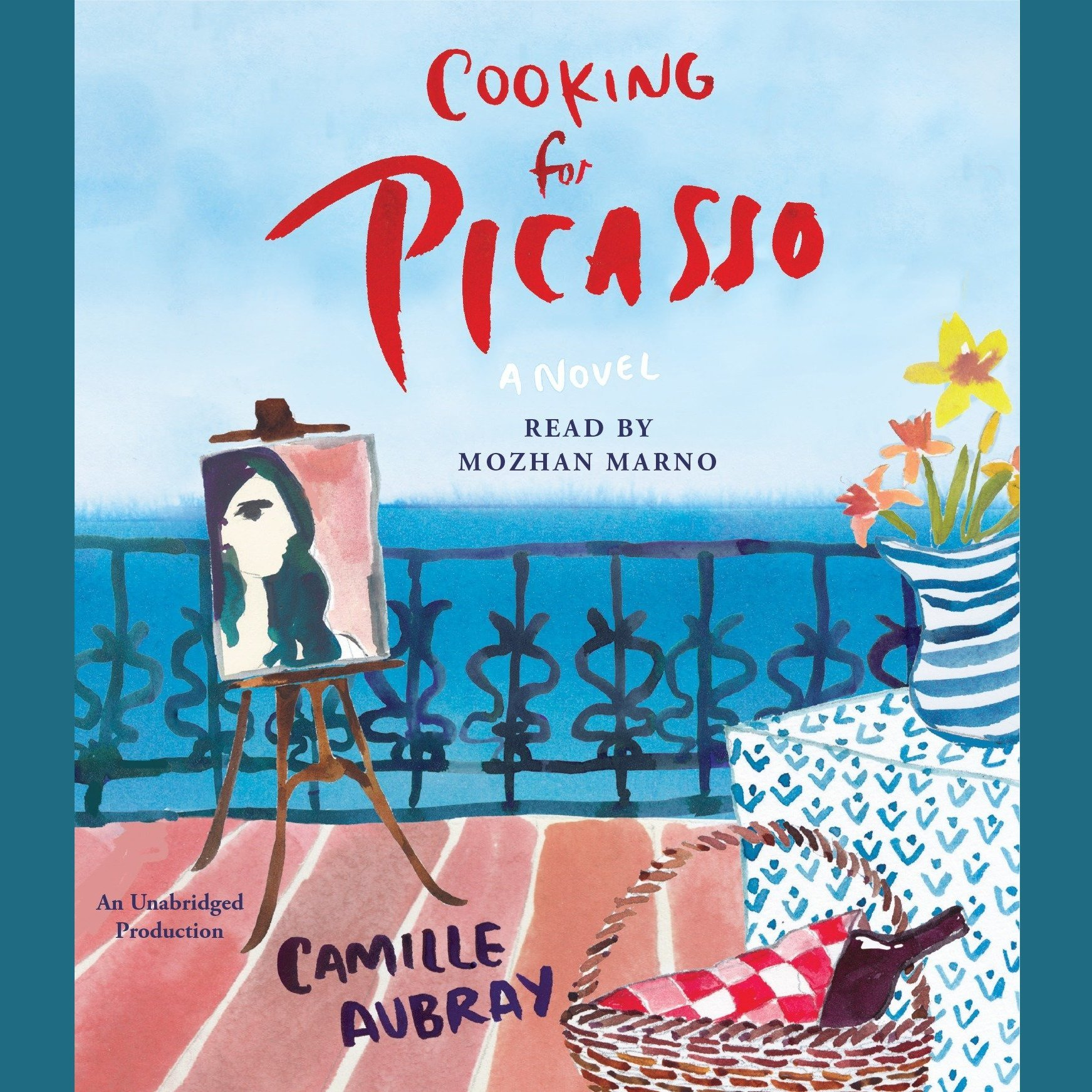 Printable Cooking for Picasso: A Novel Audiobook Cover Art