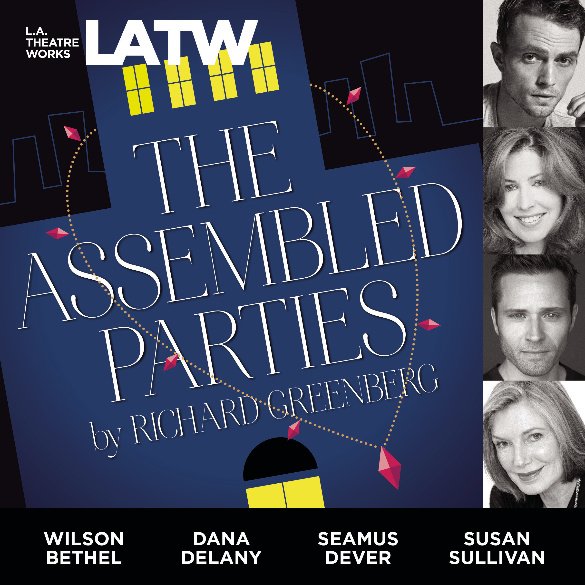 Printable The Assembled Parties Audiobook Cover Art