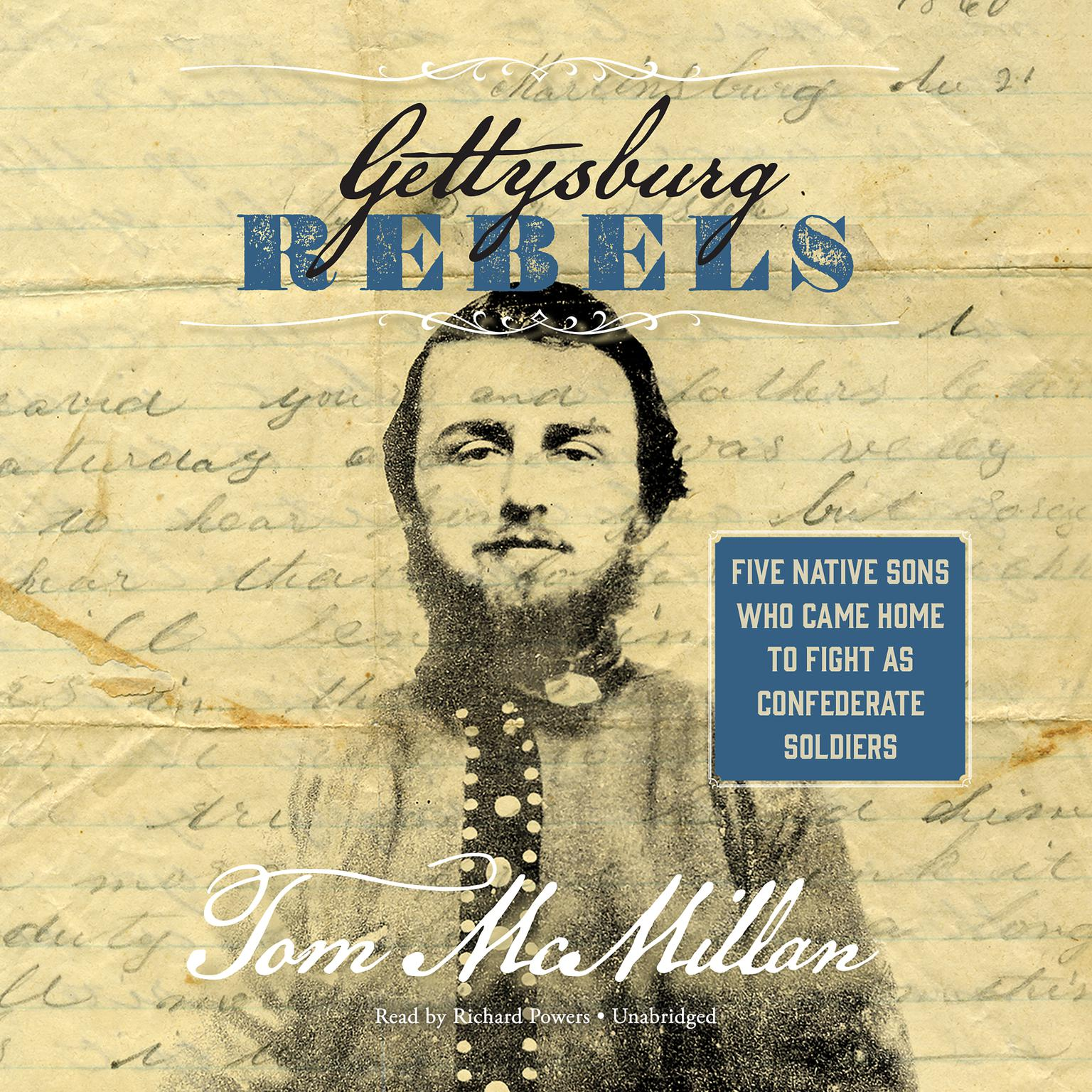 Printable Gettysburg Rebels : Five Native Sons Who Came Home to Fight as Confederate Soldiers Audiobook Cover Art