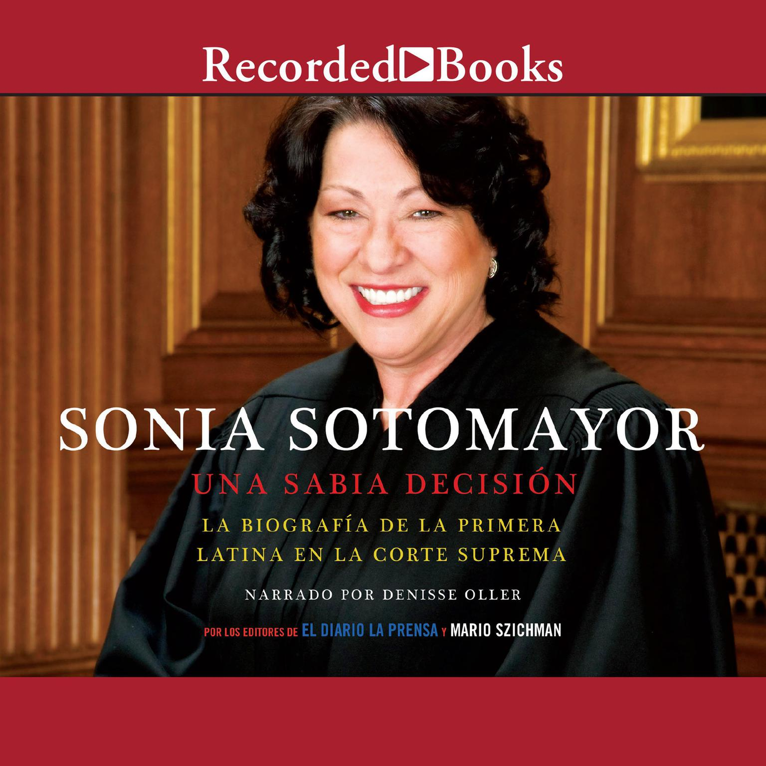 Printable Sonia Sotomayor (Sonia Sotomayor: A Wise Decision): Una sabia decision Audiobook Cover Art