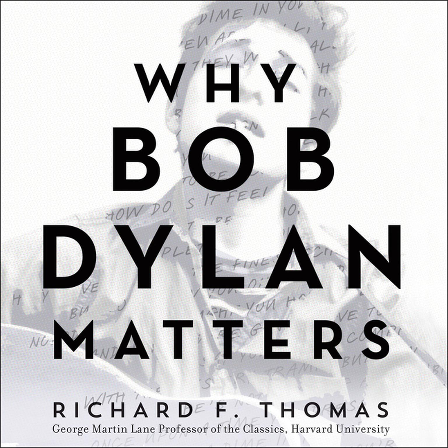 Printable Why Bob Dylan Matters Audiobook Cover Art
