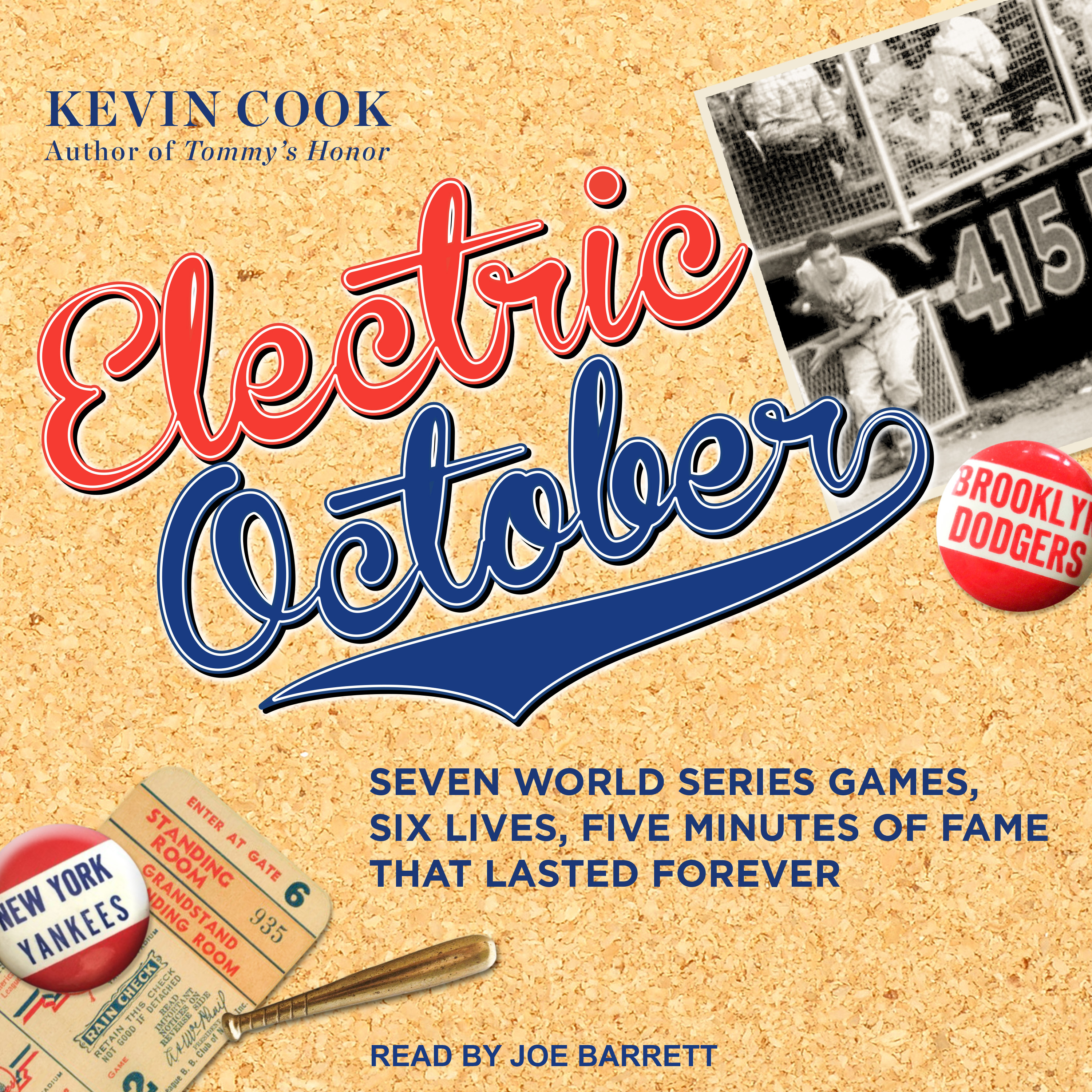 Printable Electric October: Seven World Series Games, Six Lives, Five Minutes of Fame That Lasted Forever Audiobook Cover Art