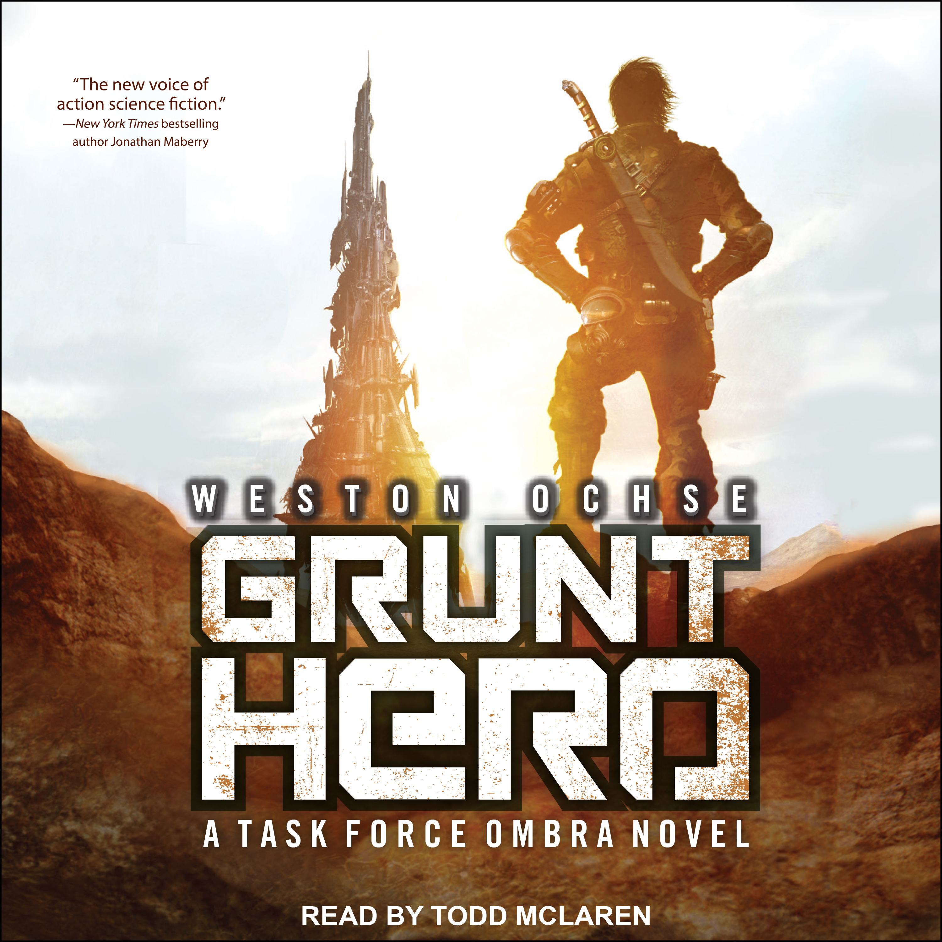 Printable Grunt Hero: A Task Force Ombra Novel Audiobook Cover Art