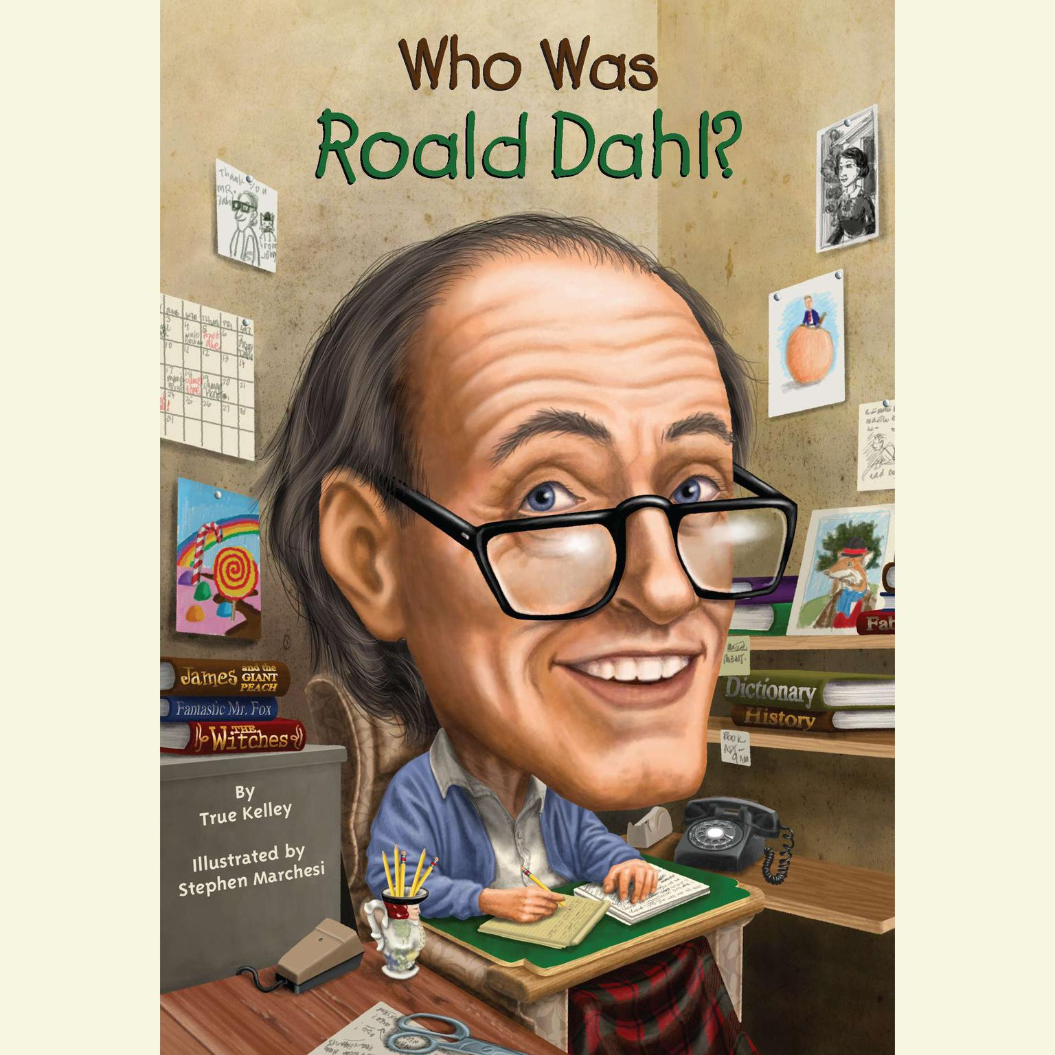 Printable Who Was Roald Dahl? Audiobook Cover Art