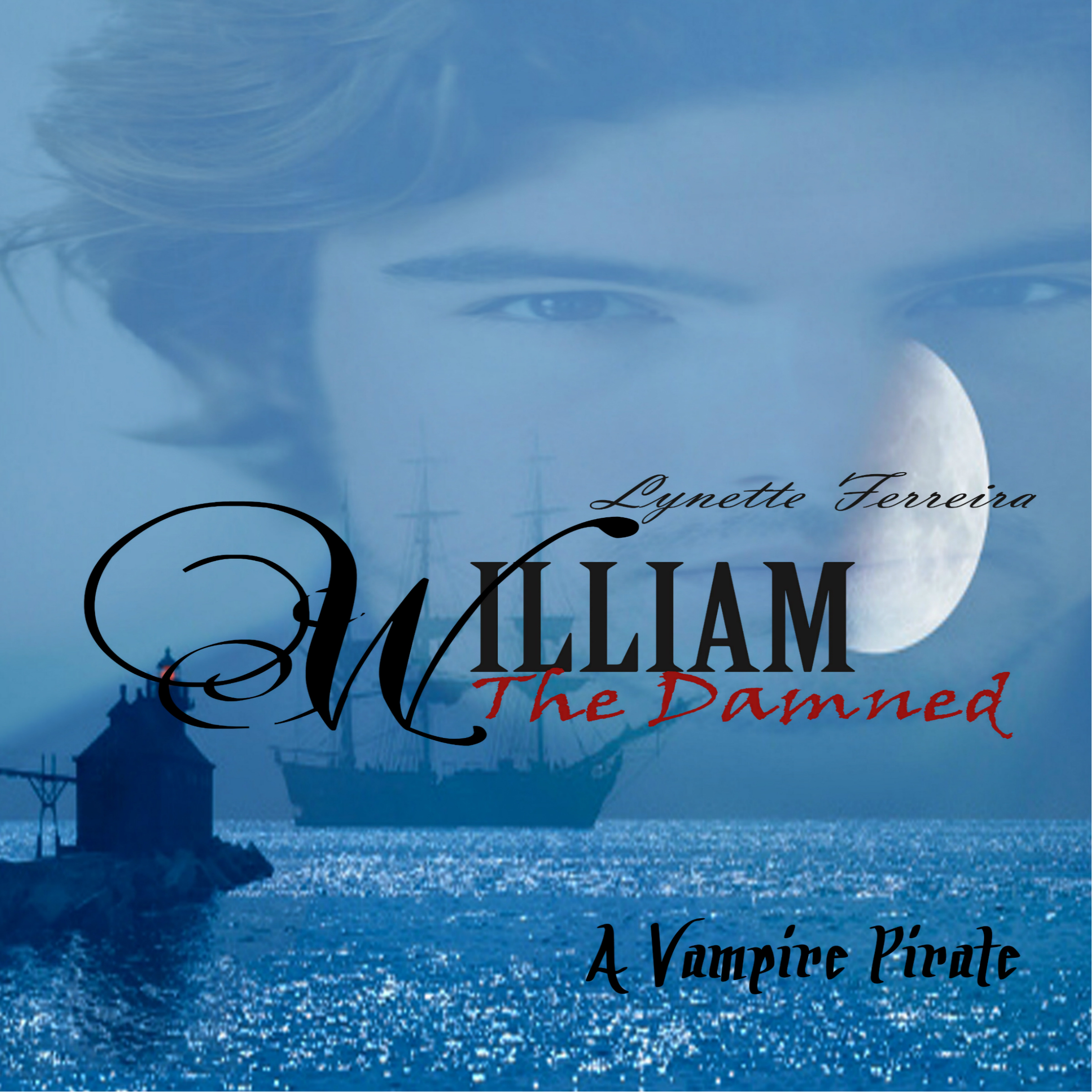 Printable William the Damned: A Vampire Pirate Audiobook Cover Art