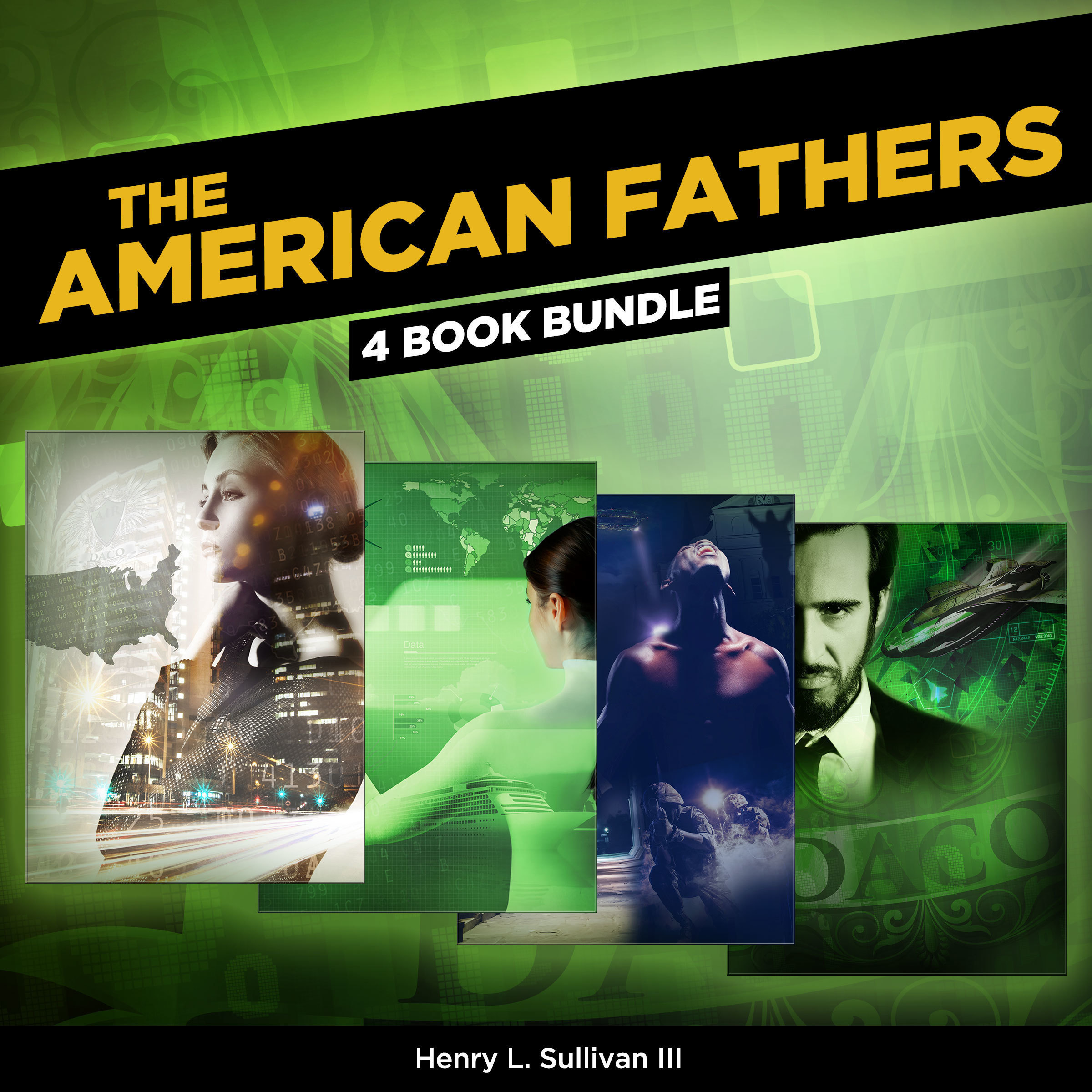 Printable THE AMERICAN FATHERS (4 Book Bundle) Audiobook Cover Art