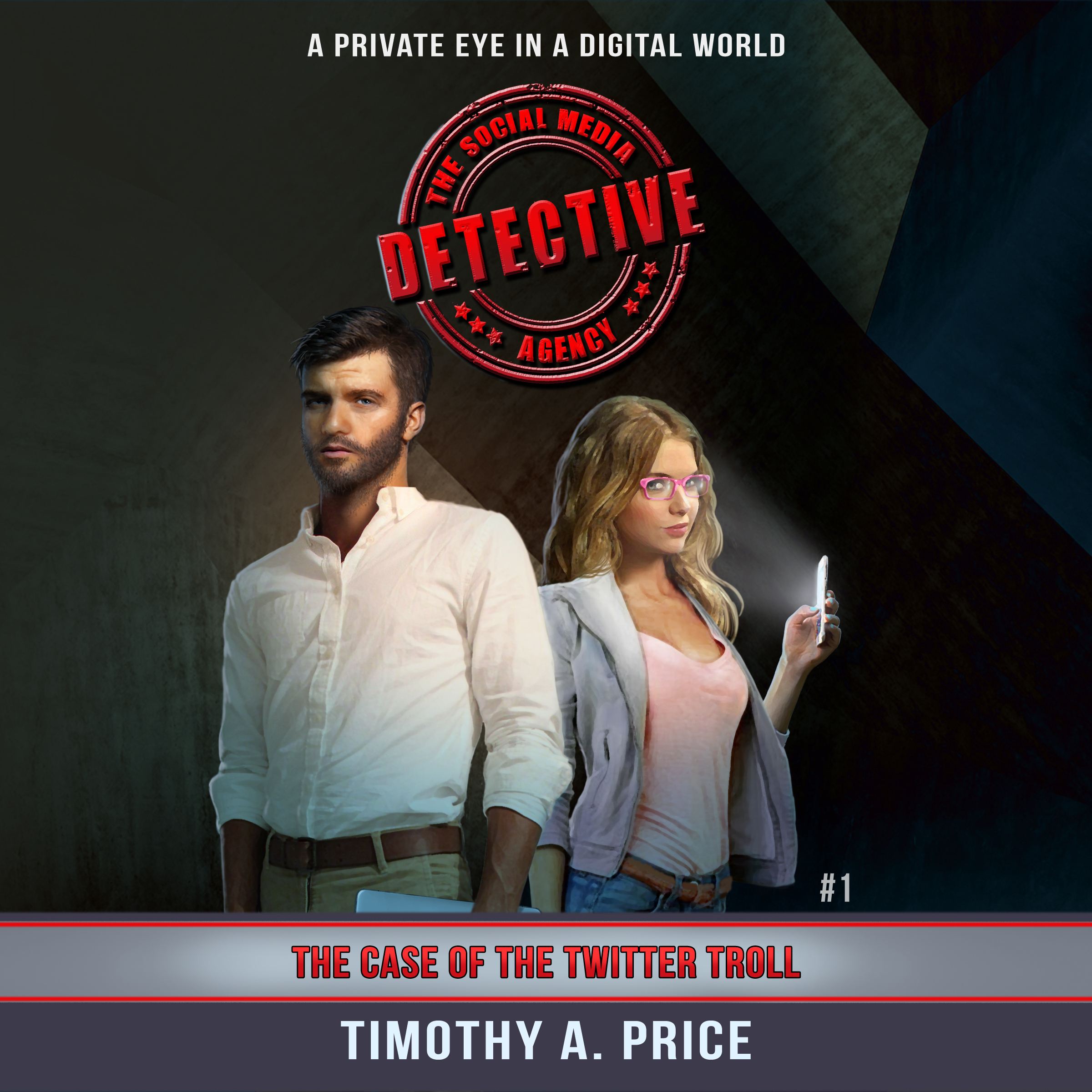 Printable The Case of the Twitter Troll: The Social Media Detective Agency Audiobook Cover Art