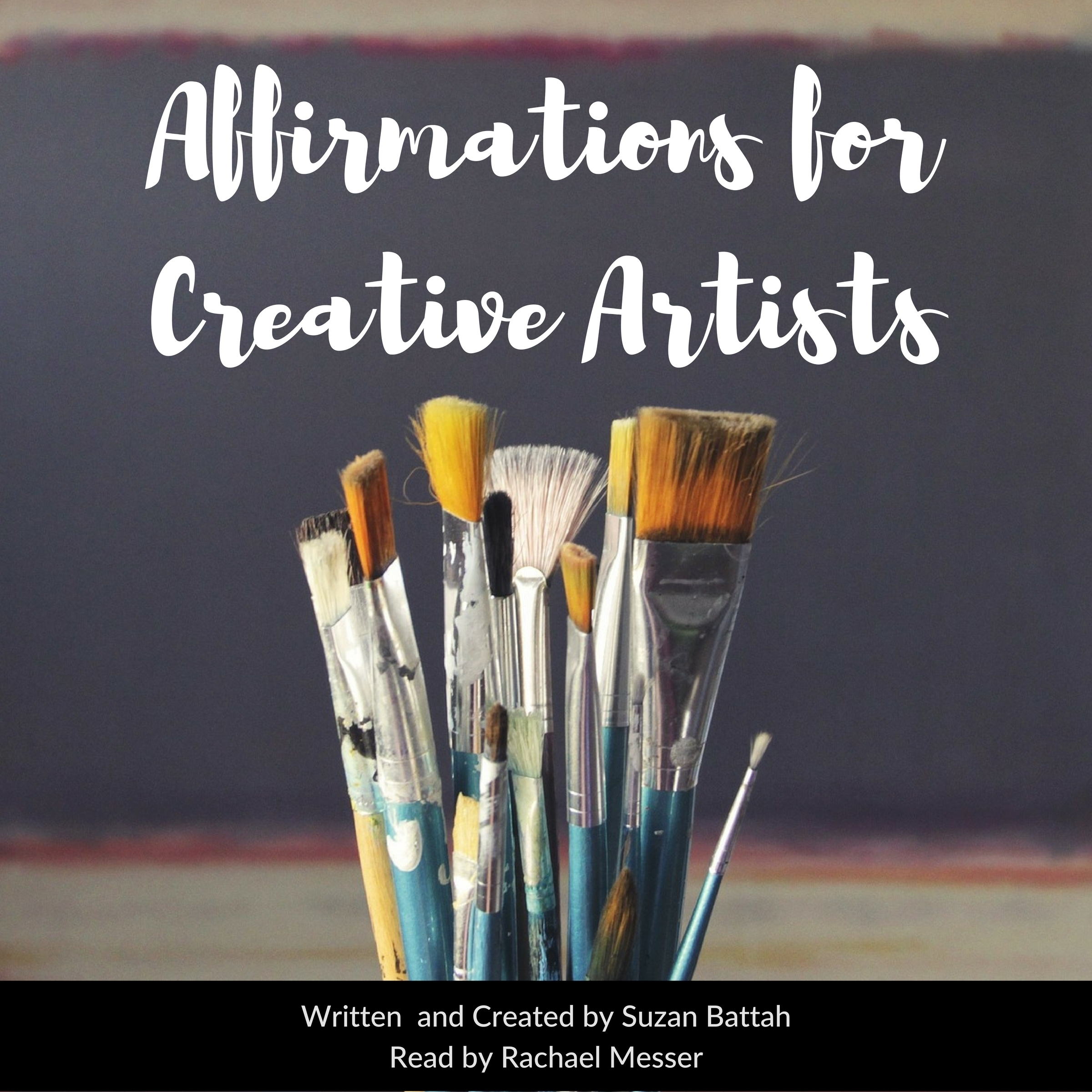 Printable Affirmations for Creative Artists Audiobook Cover Art