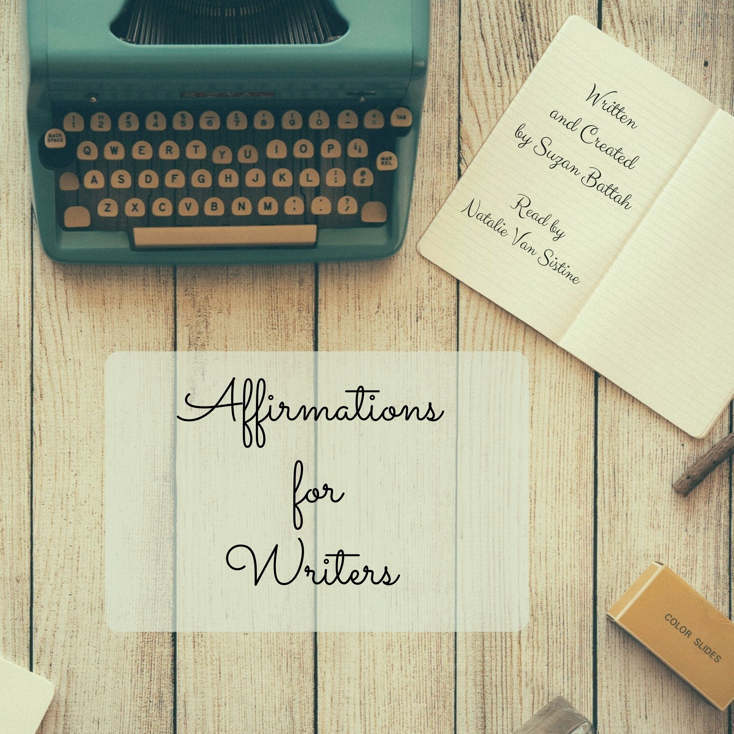 Printable Affirmations for Writers Audiobook Cover Art