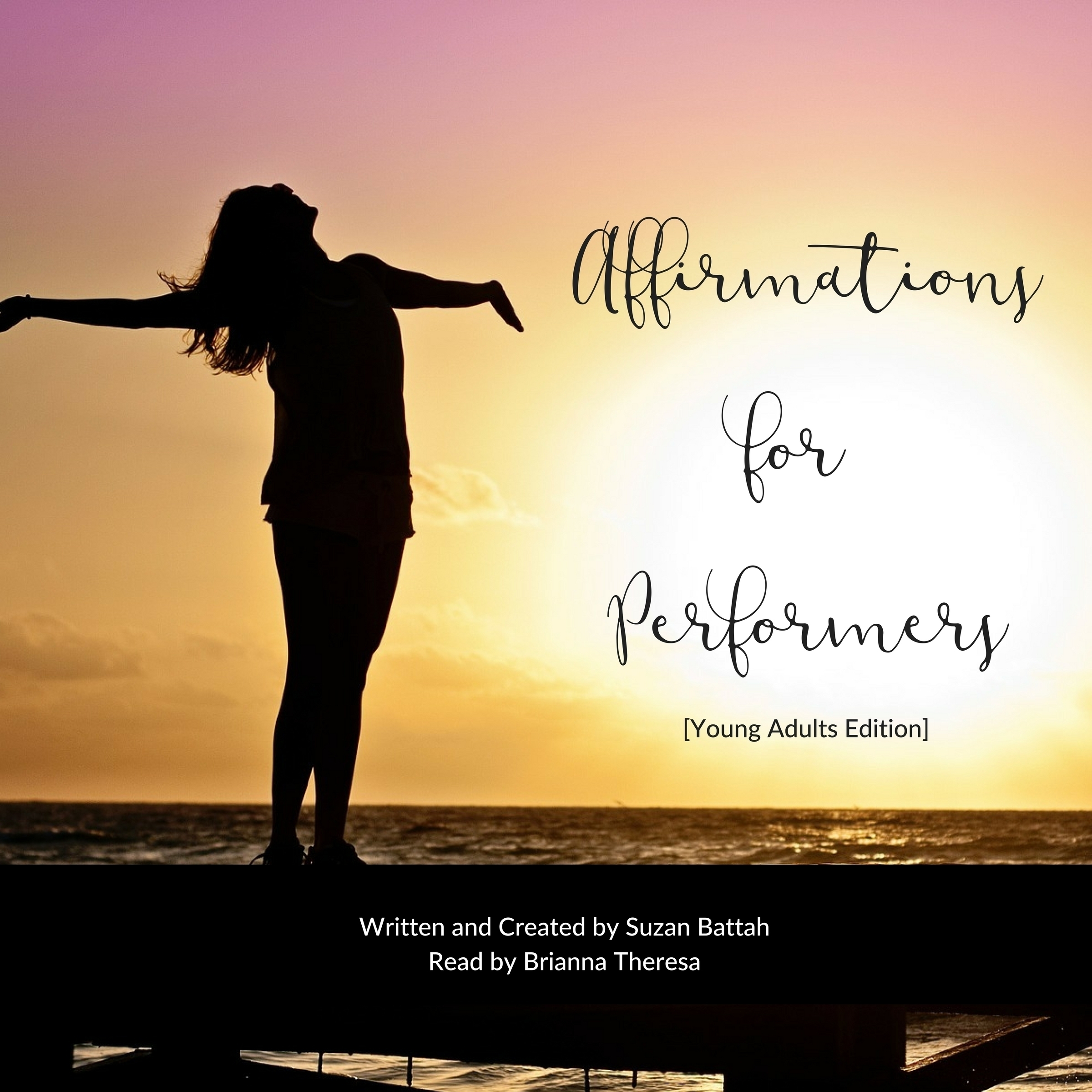 Printable Affirmations for Performers [Young Adult Edition] Audiobook Cover Art