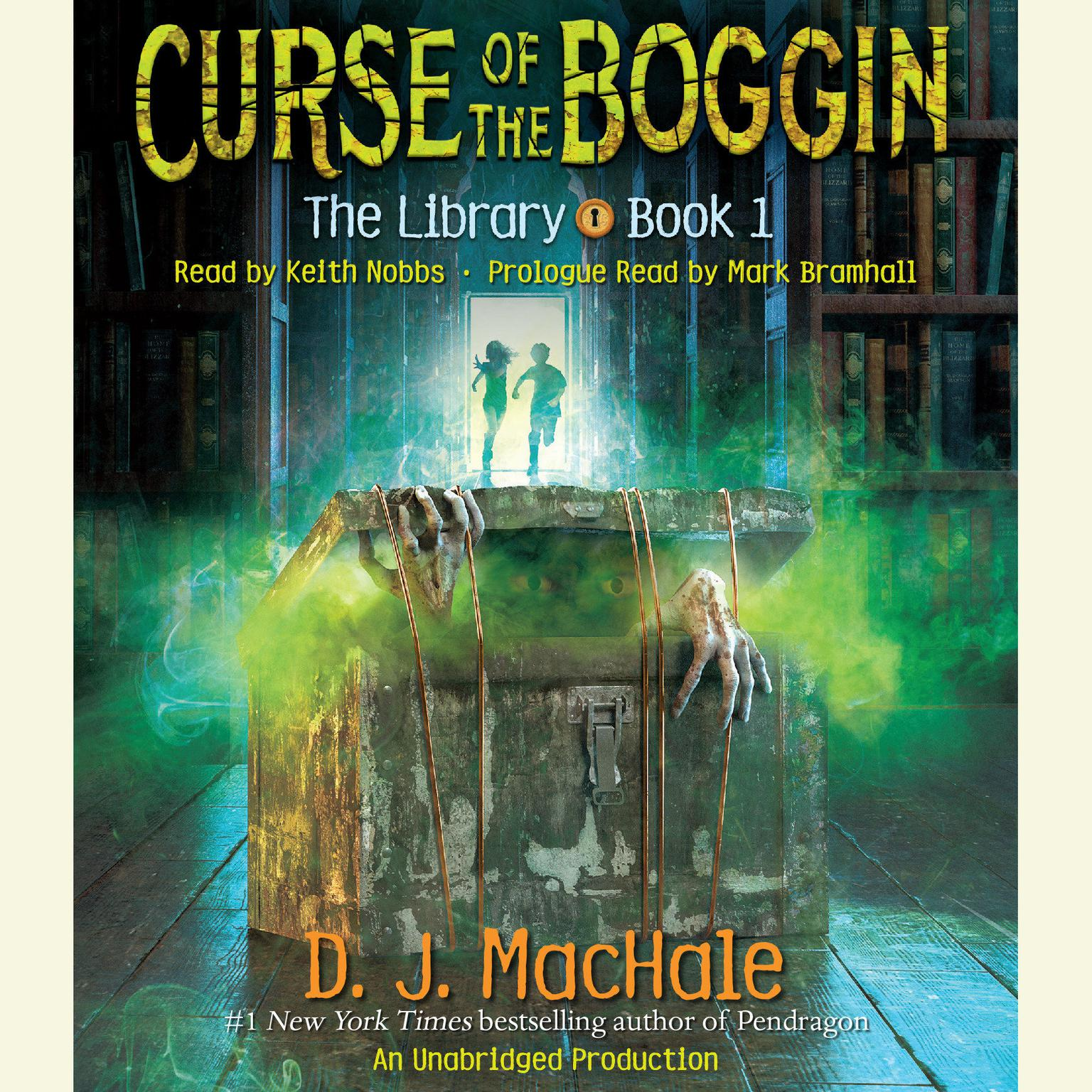 Printable Curse of the Boggin: The Library Book 1 Audiobook Cover Art