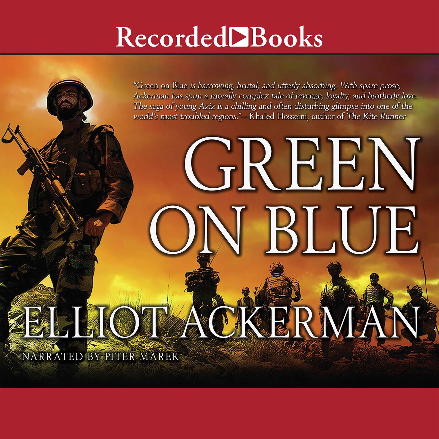 Printable Green on Blue Audiobook Cover Art